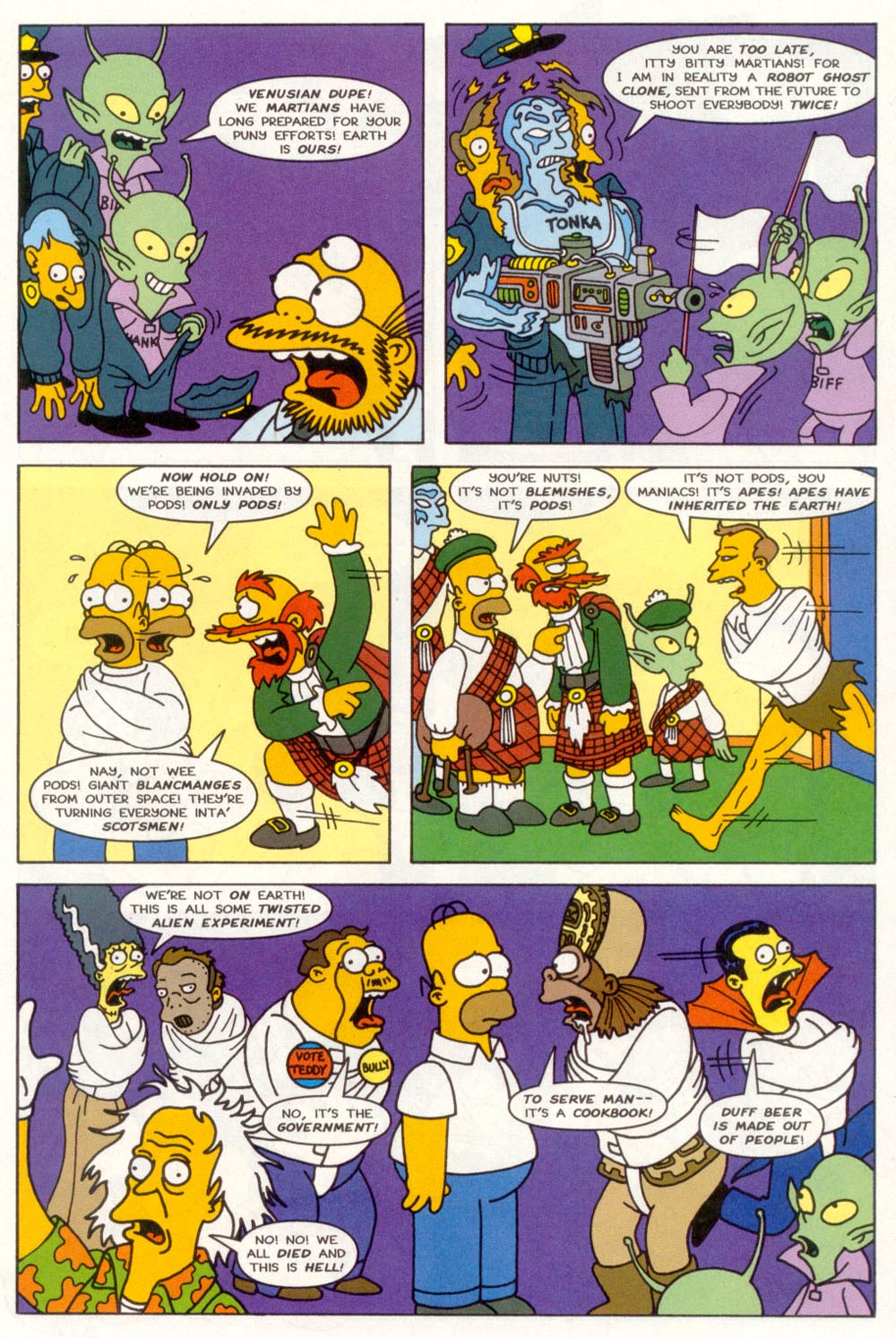 Read online Treehouse of Horror comic -  Issue #3 - 24