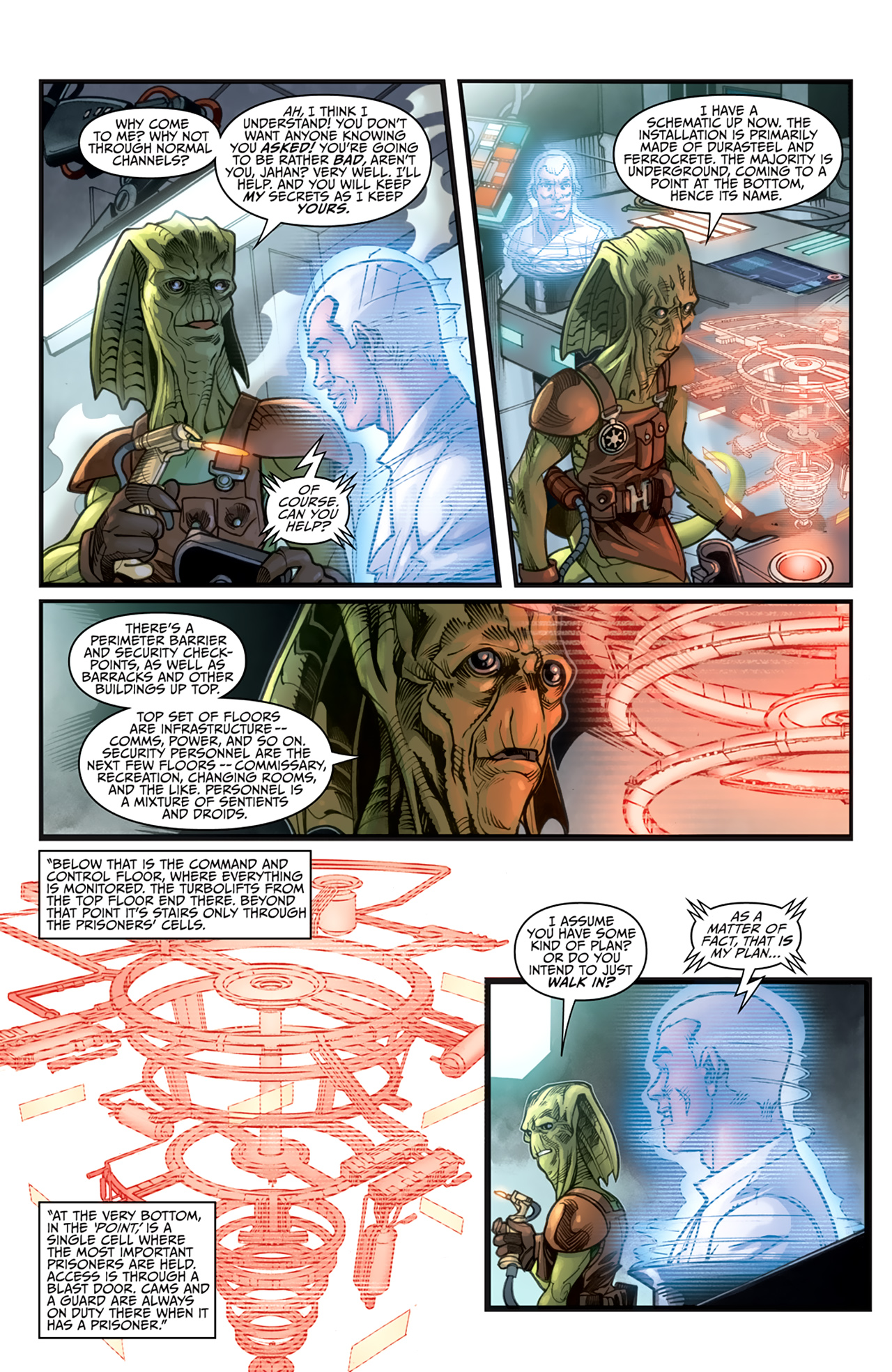 Read online Star Wars: Agent Of The Empire - Hard Targets comic -  Issue #3 - 13