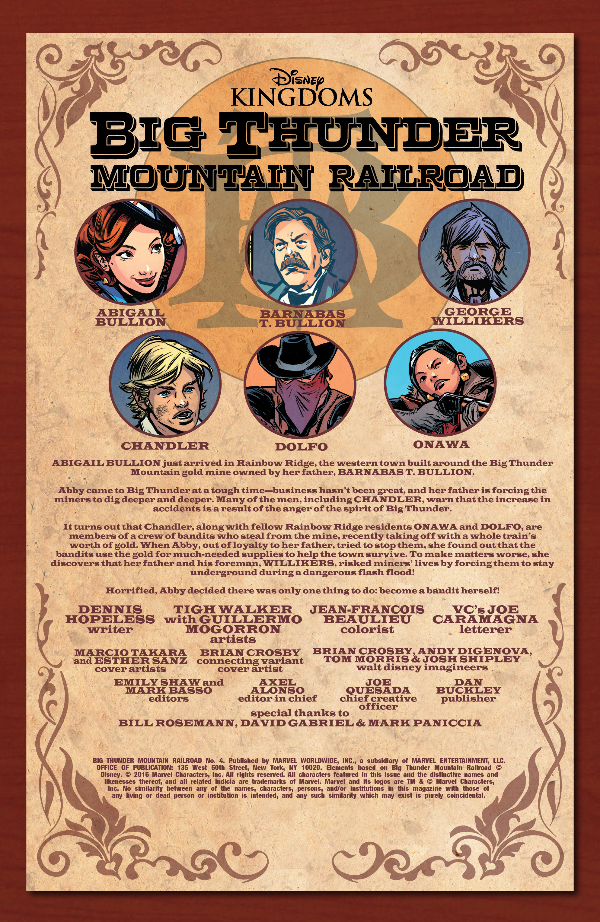 Read online Big Thunder Mountain Railroad comic -  Issue #4 - 2