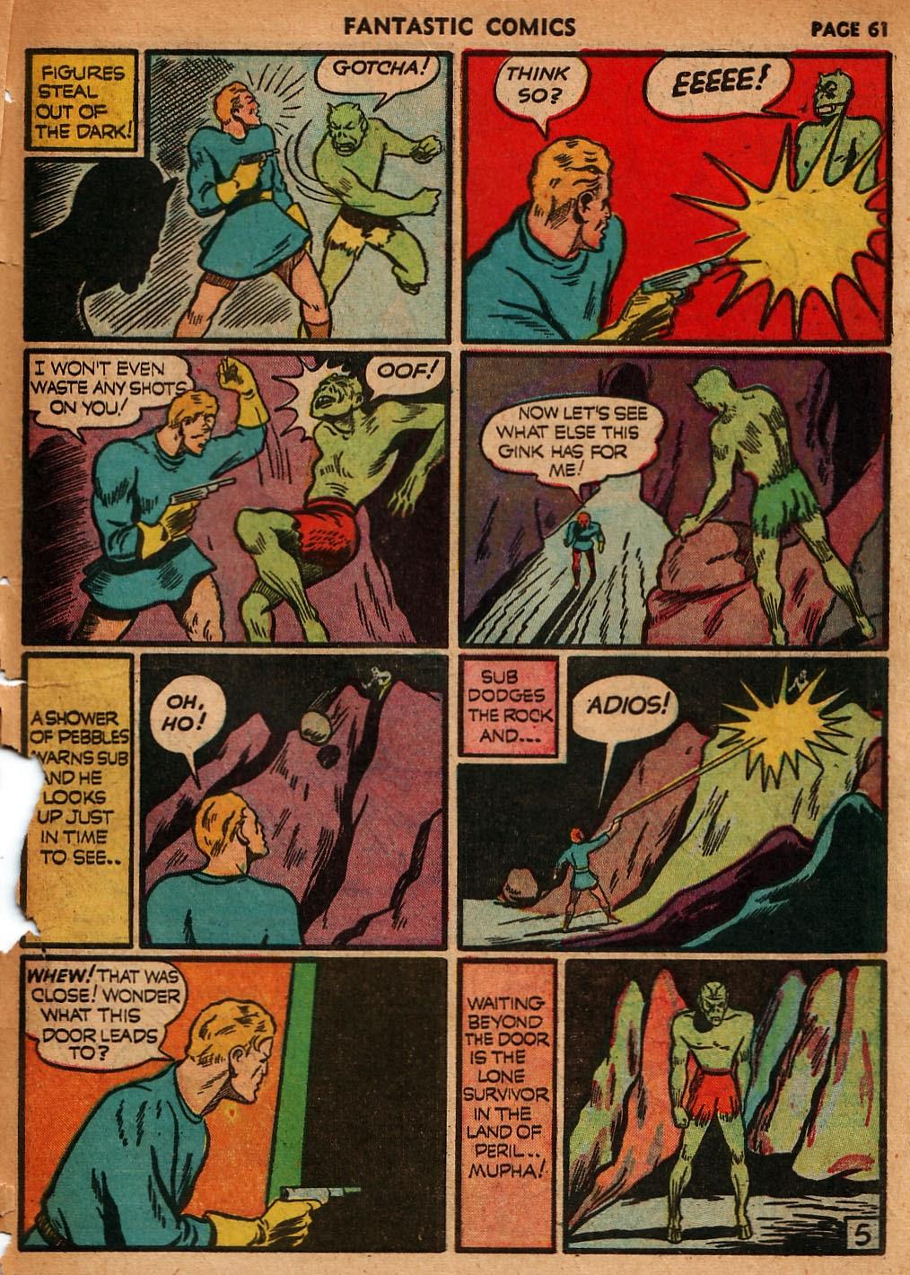 Read online Fantastic Comics comic -  Issue #18 - 63