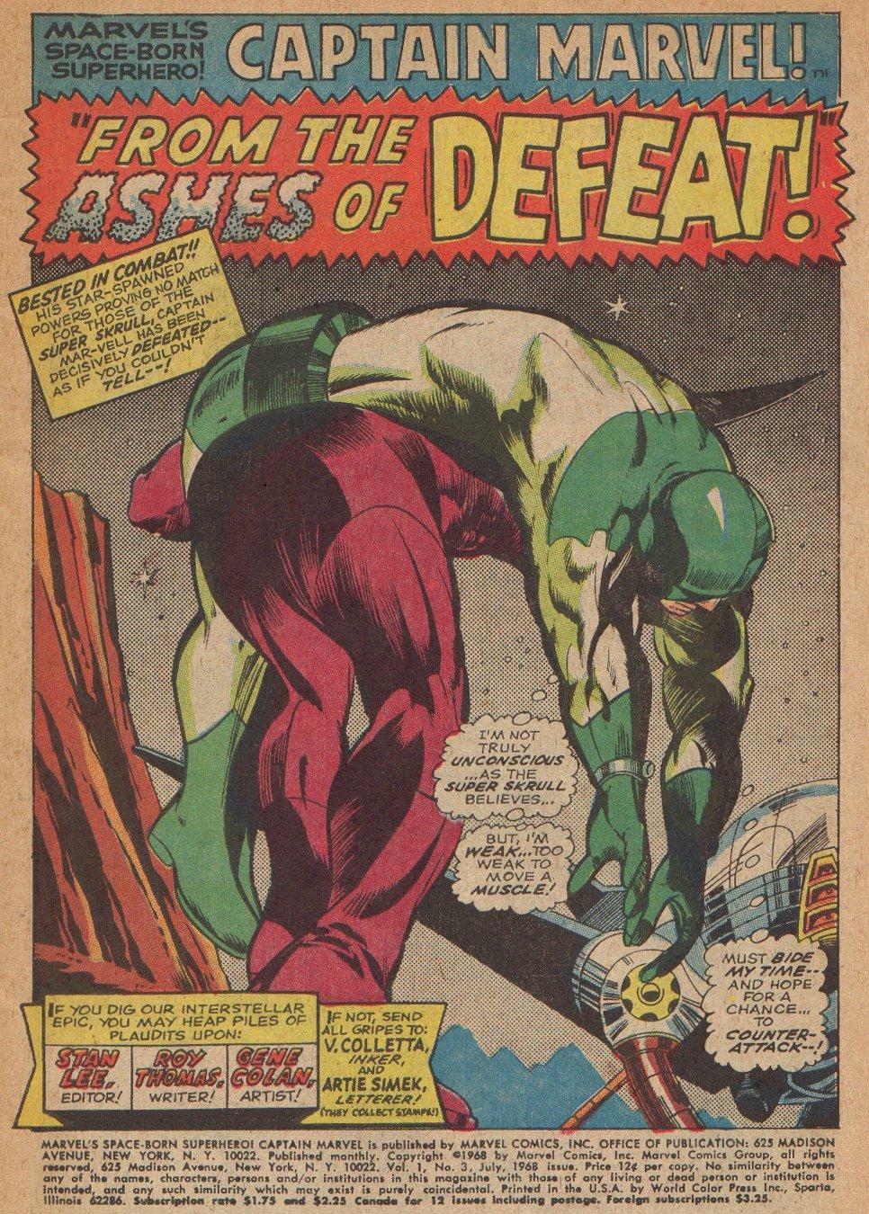 Captain Marvel (1968) Issue #3 #3 - English 2