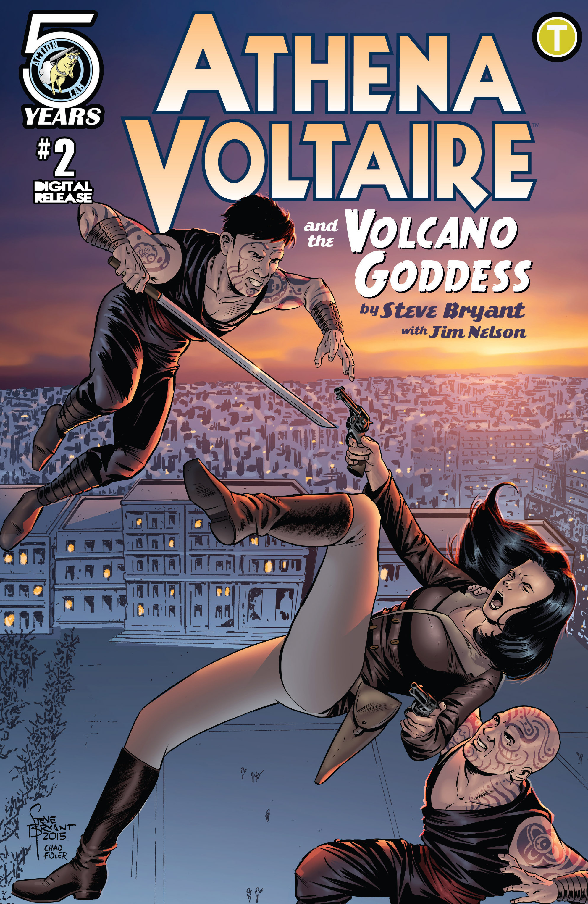 Read online Athena Voltaire and the Volcano Goddess comic -  Issue #2 - 1