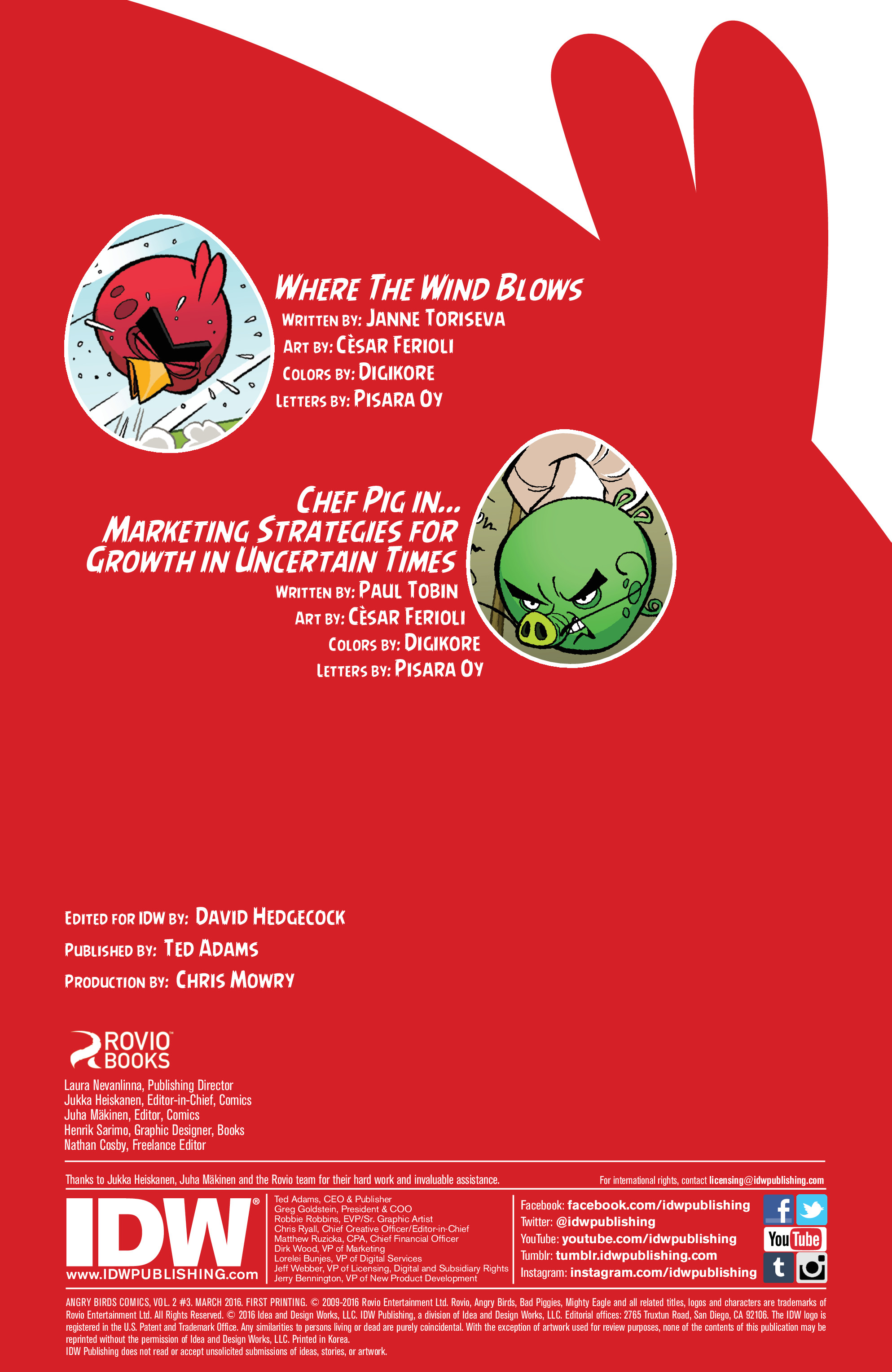 Read online Angry Birds Comics (2016) comic -  Issue #3 - 2