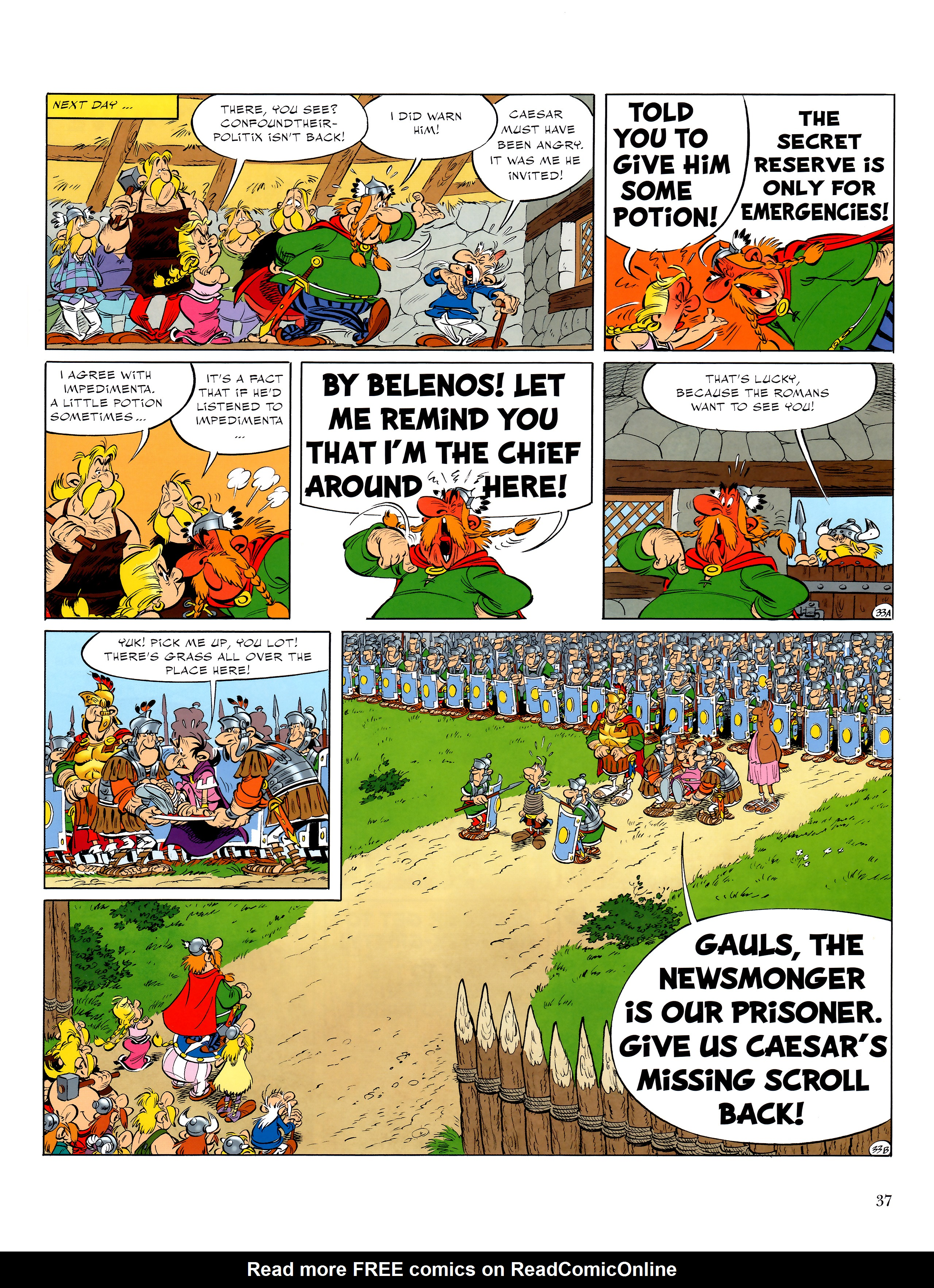 Read online Asterix comic -  Issue #36 - 38