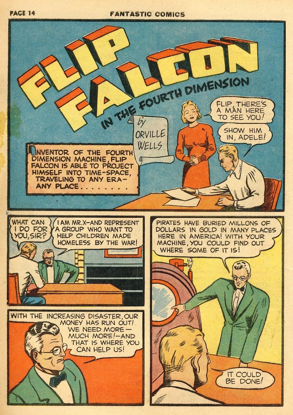 Read online Fantastic Comics comic -  Issue #10 - 15