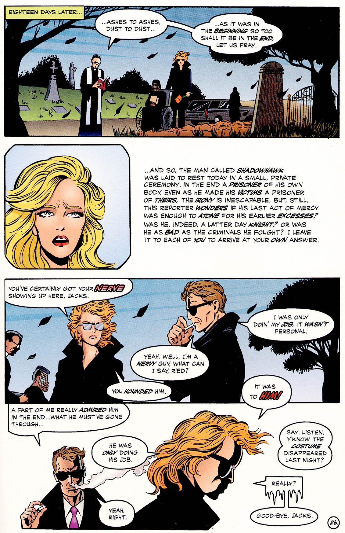 Read online ShadowHawk comic -  Issue #18 - 26