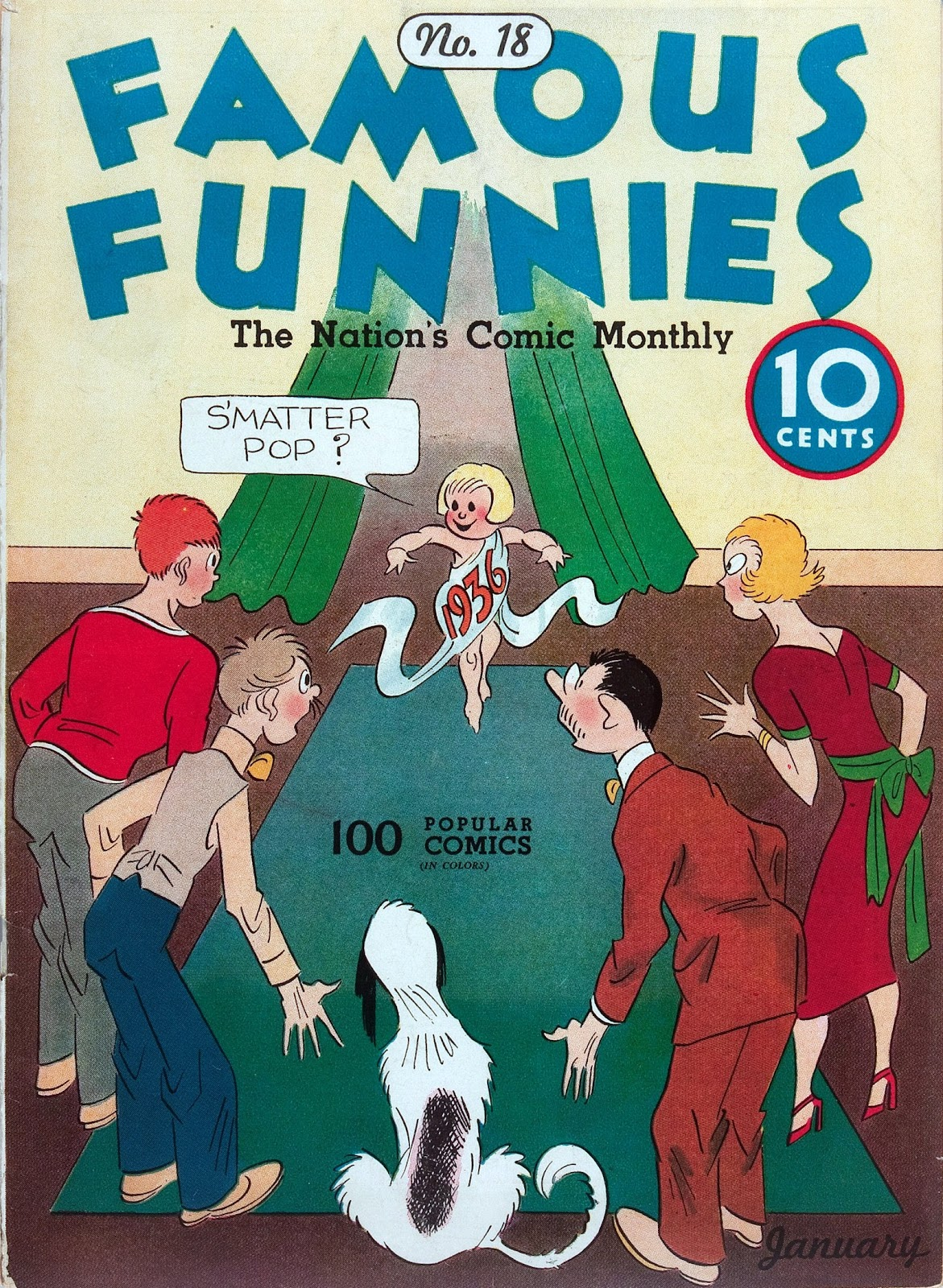 Read online Famous Funnies comic -  Issue #18 - 1