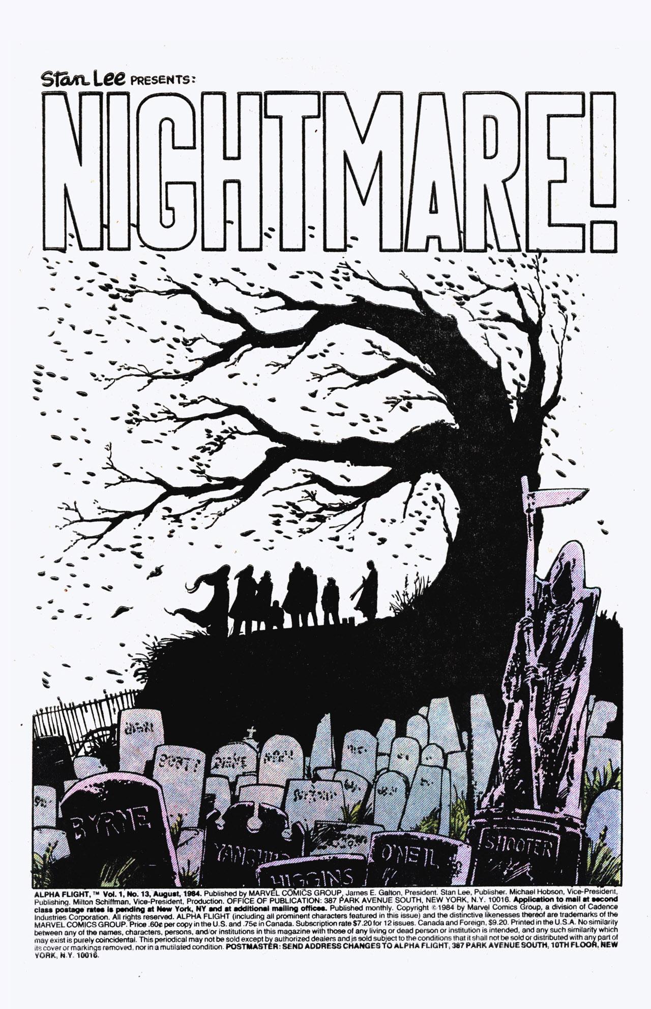 Read online Alpha Flight (1983) comic -  Issue #13 - 2