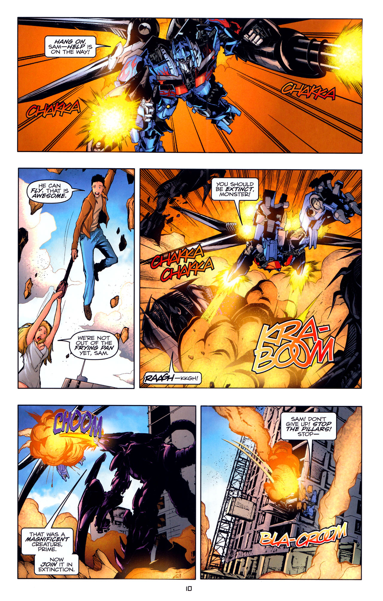 Read online Transformers: Dark of the Moon Movie Adaptation comic -  Issue #4 - 12