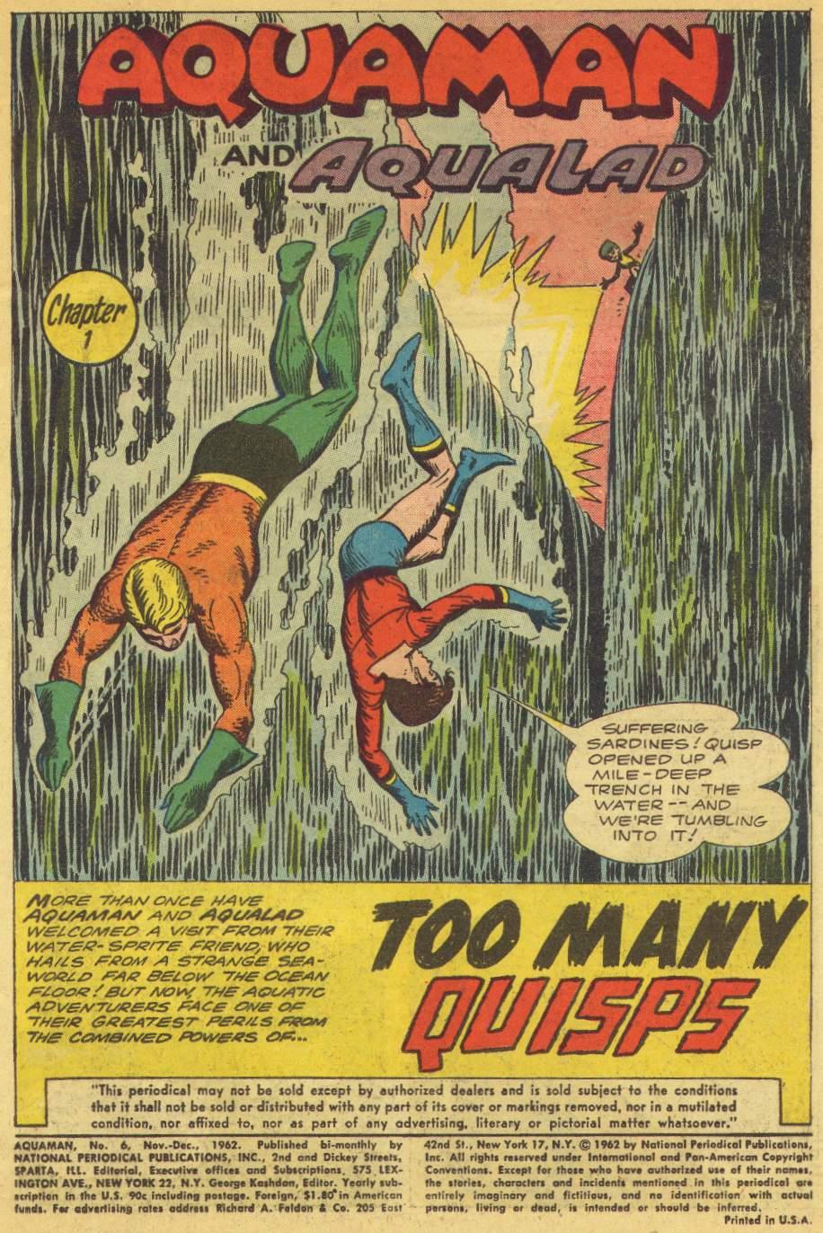 Read online Aquaman (1962) comic -  Issue #6 - 3