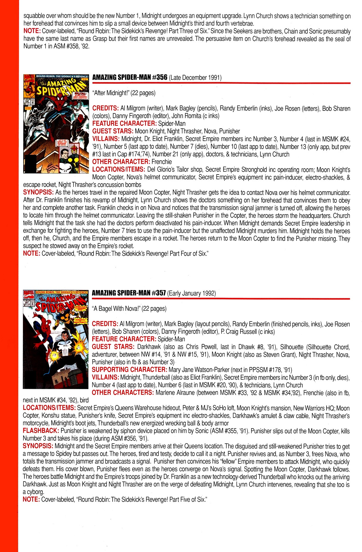 Read online Official Index to the Marvel Universe comic -  Issue #8 - 18
