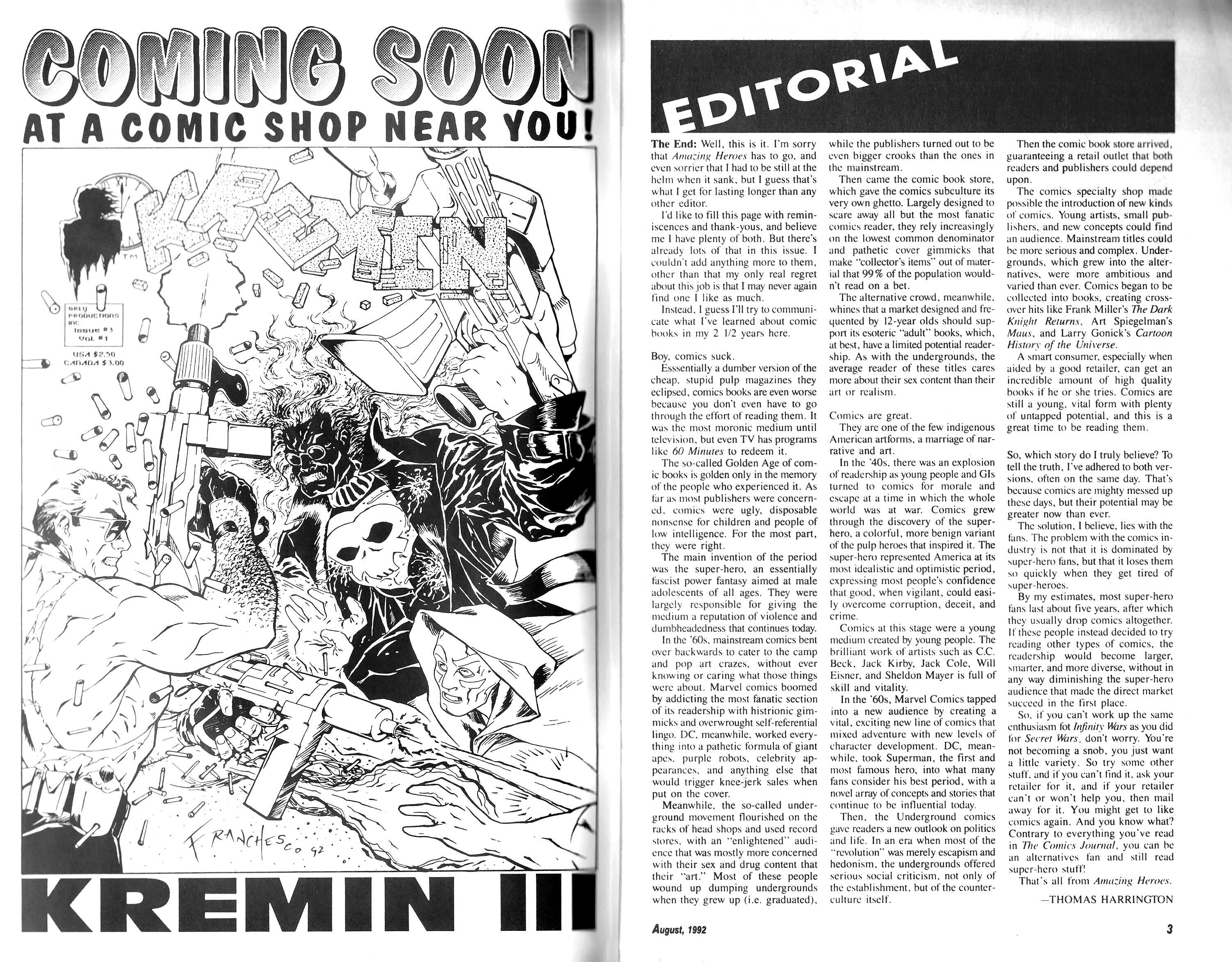 Read online Amazing Heroes comic -  Issue #204 - 2