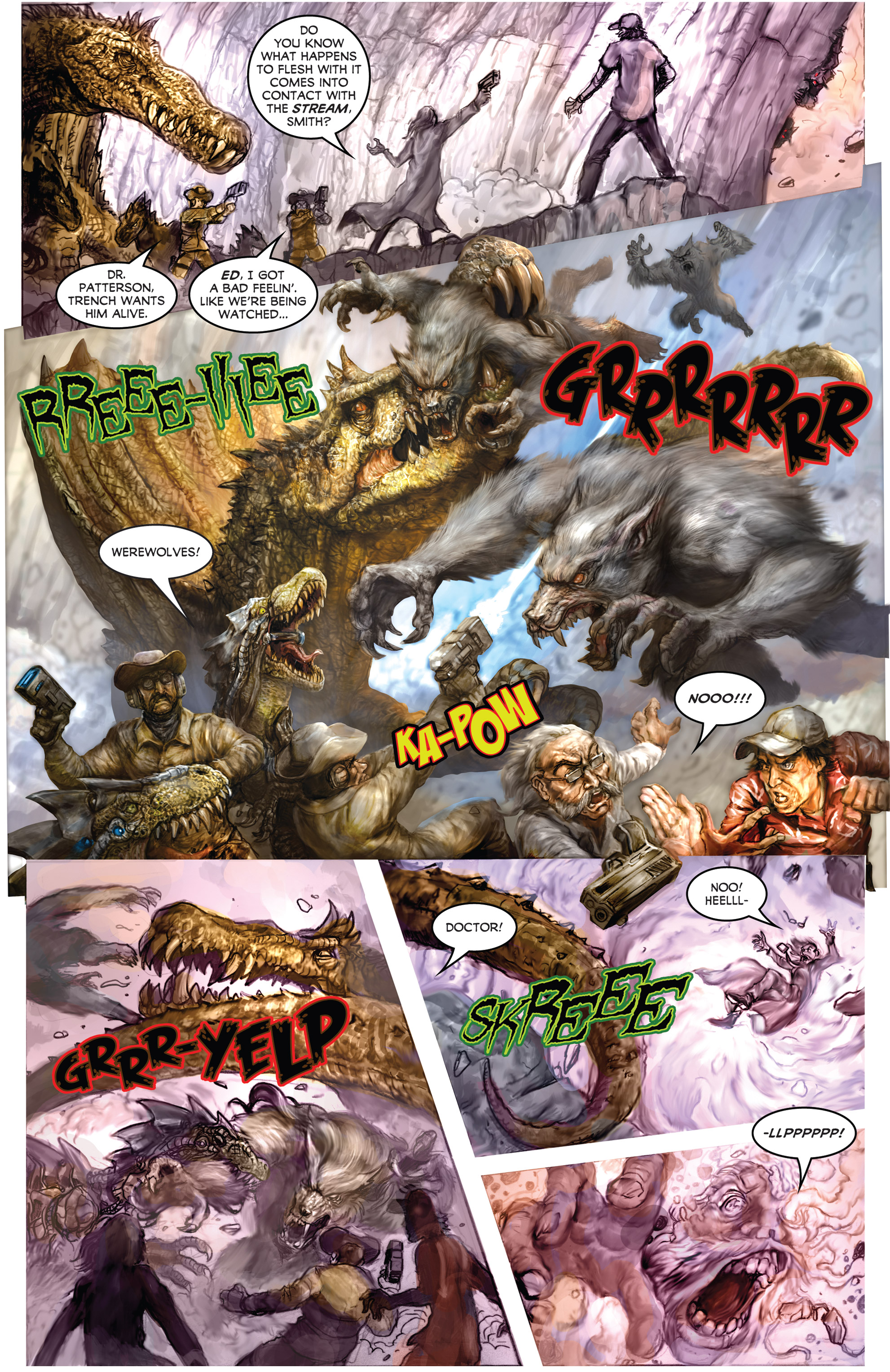 Read online American Mythology Dark: Werewolves vs Dinosaurs comic -  Issue #2 - 22