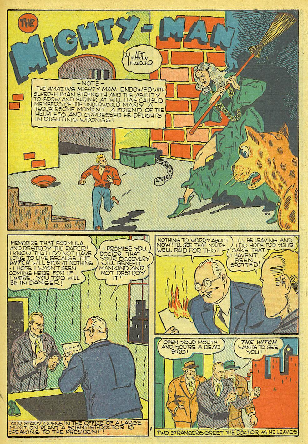 Read online Amazing Man Comics comic -  Issue #19 - 35