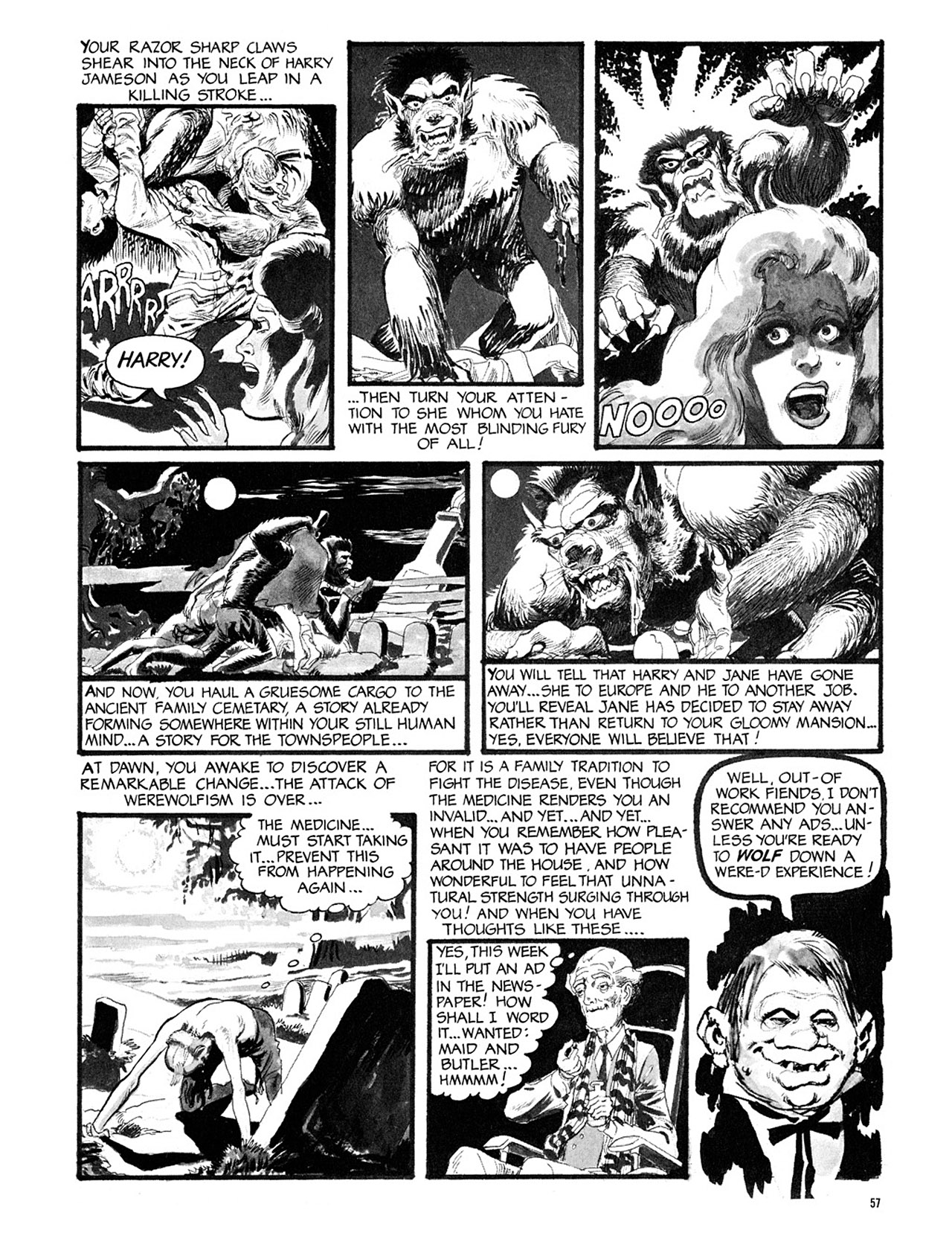 Read online Eerie Archives comic -  Issue # TPB 3 - 58