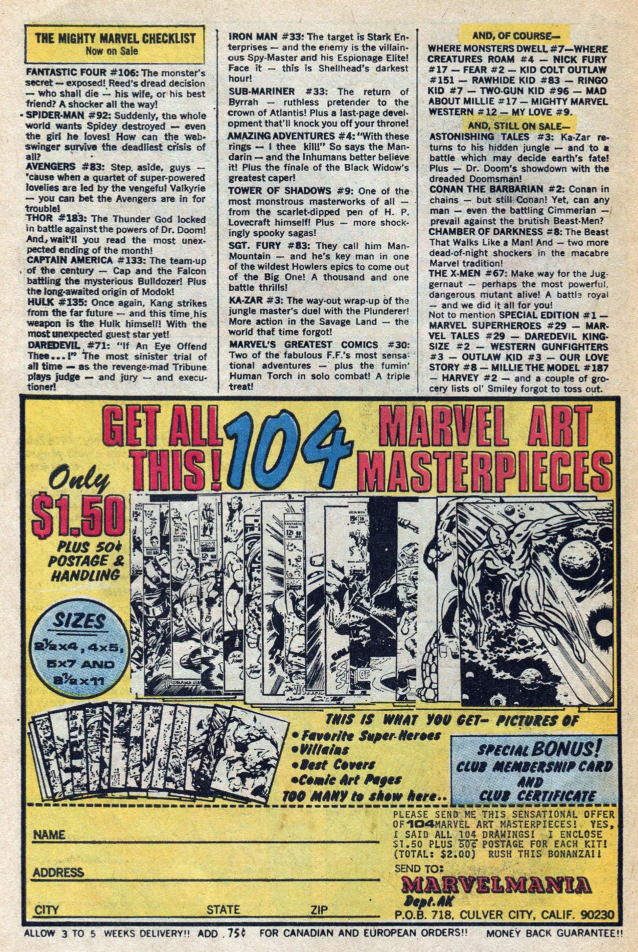 Read online Amazing Adventures (1970) comic -  Issue #4 - 10