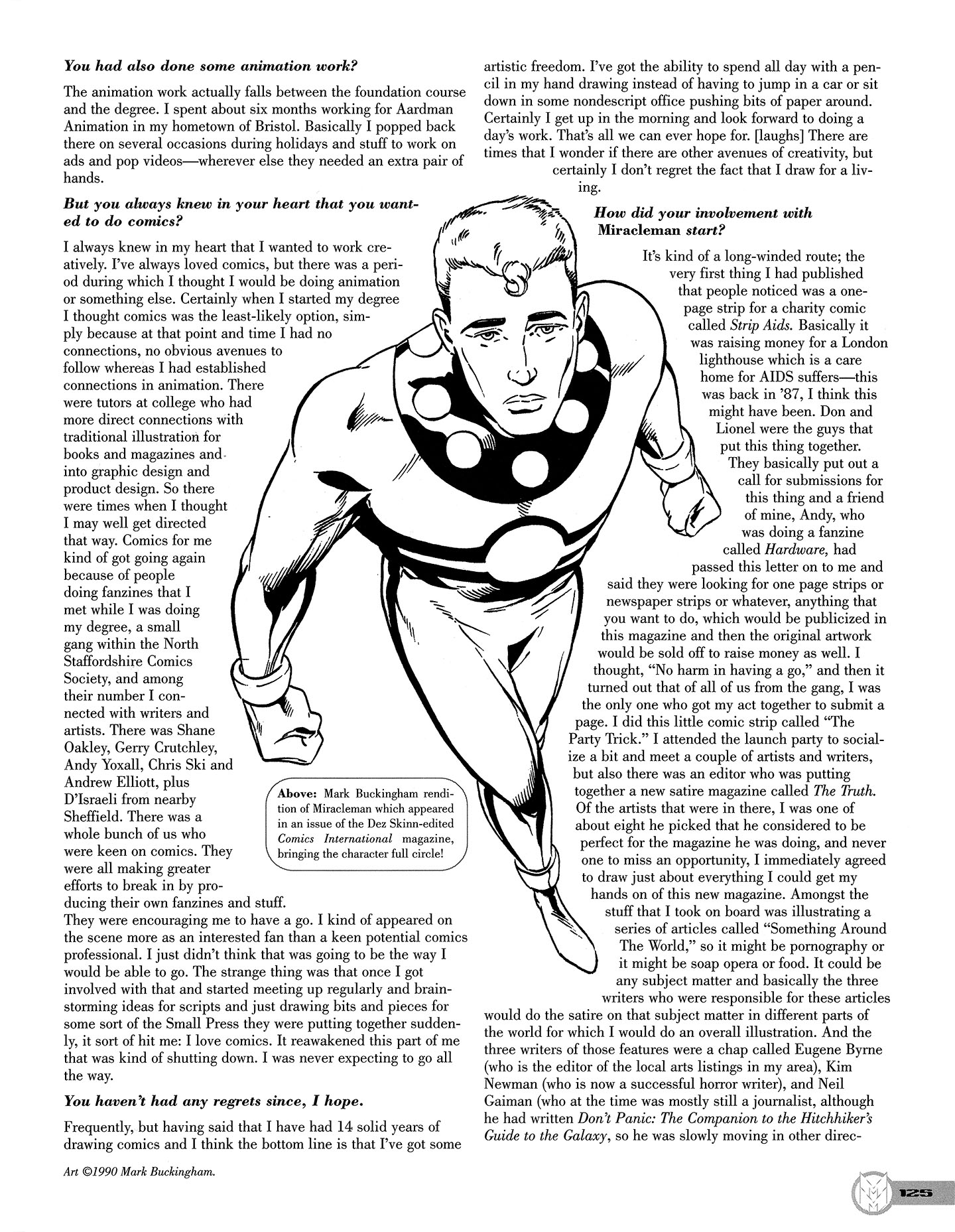 Read online Kimota!: The Miracleman Companion comic -  Issue # Full - 126