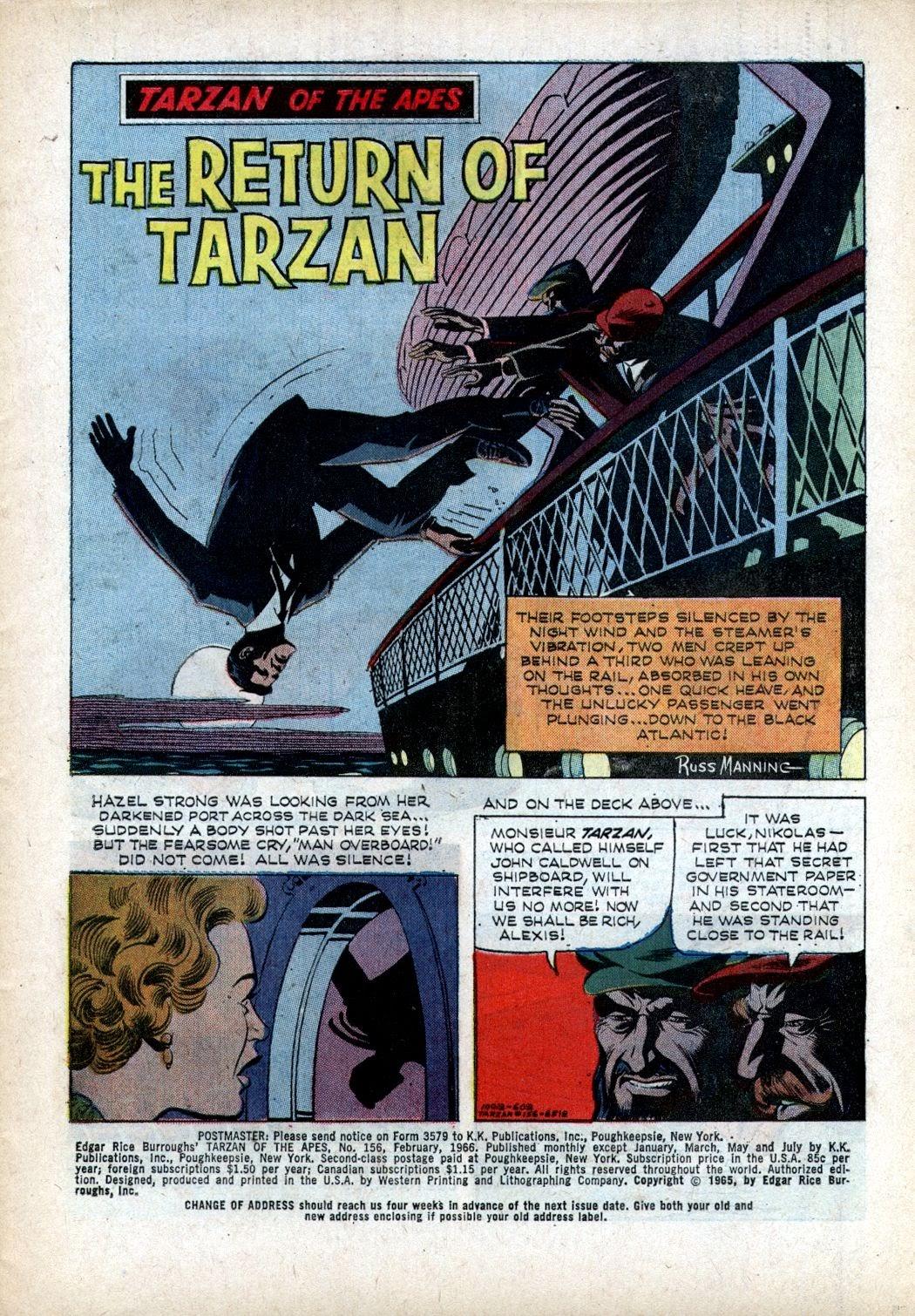 Tarzan (1962) issue 156 - Page 1