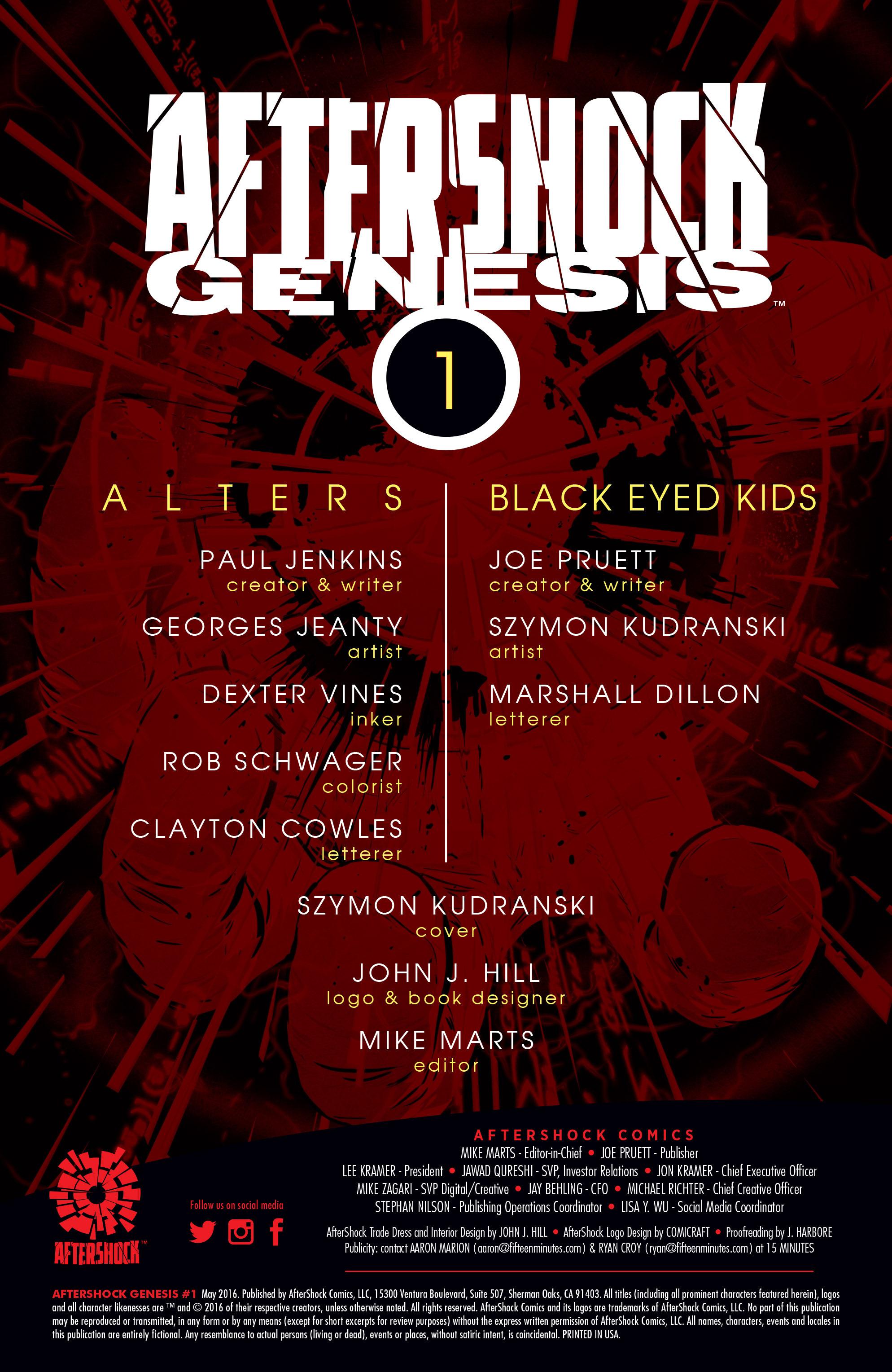 Read online Aftershock Genesis comic -  Issue #1 - 2