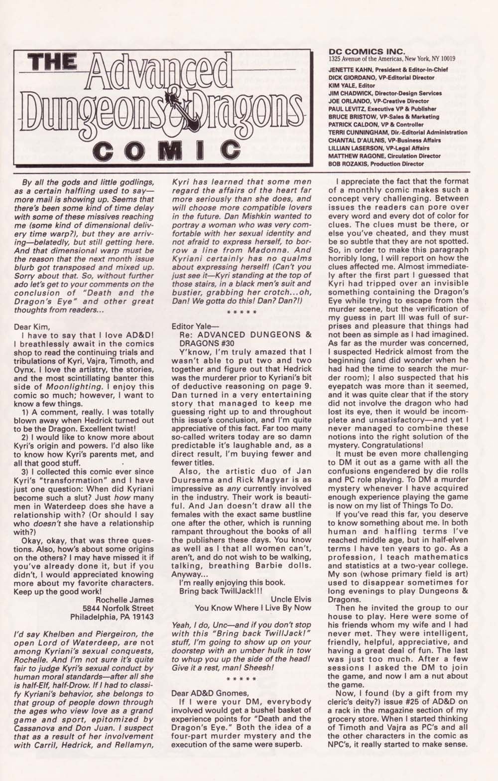 Read online Advanced Dungeons & Dragons comic -  Issue #34 - 25