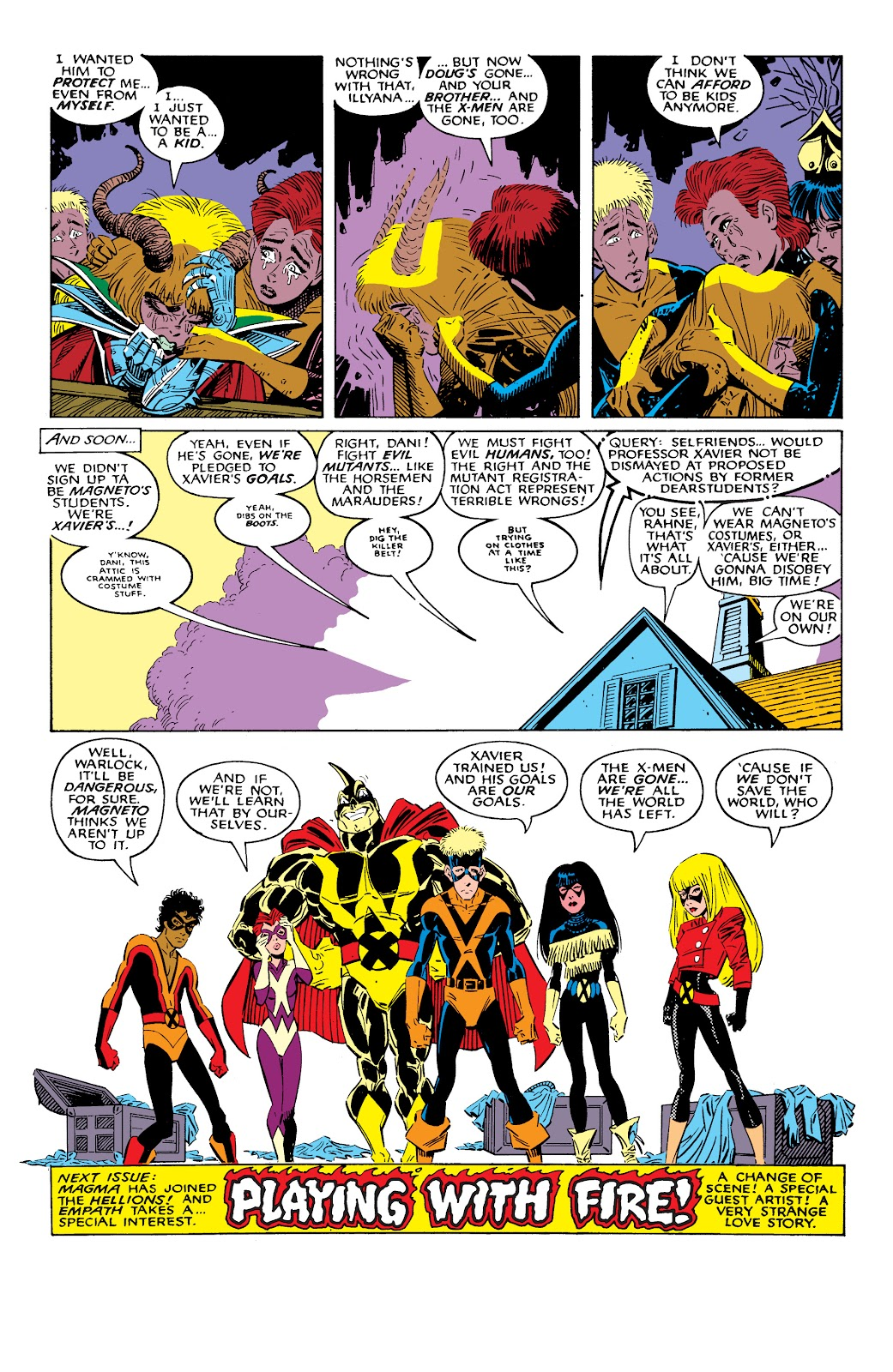 Read online X-Men Milestones: Fall of the Mutants comic -  Issue # TPB (Part 2) - 79