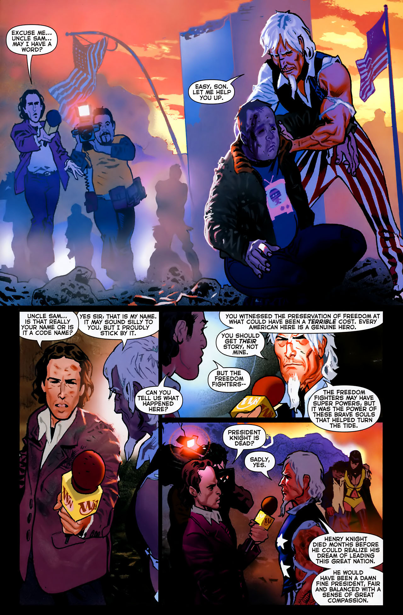 Read online Uncle Sam and the Freedom Fighters (2006) comic -  Issue #8 - 16