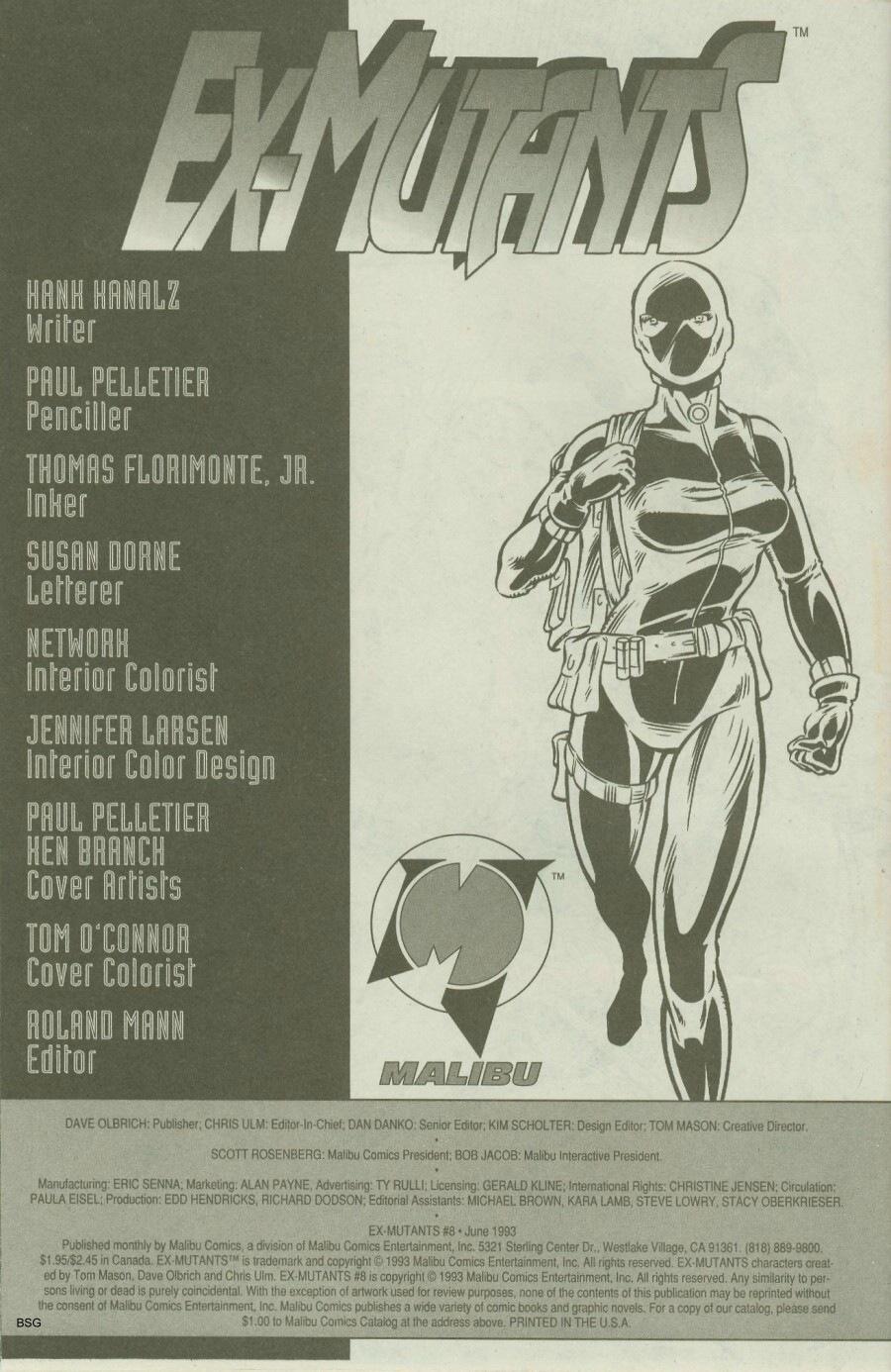 Read online Ex-Mutants comic -  Issue #8 - 33