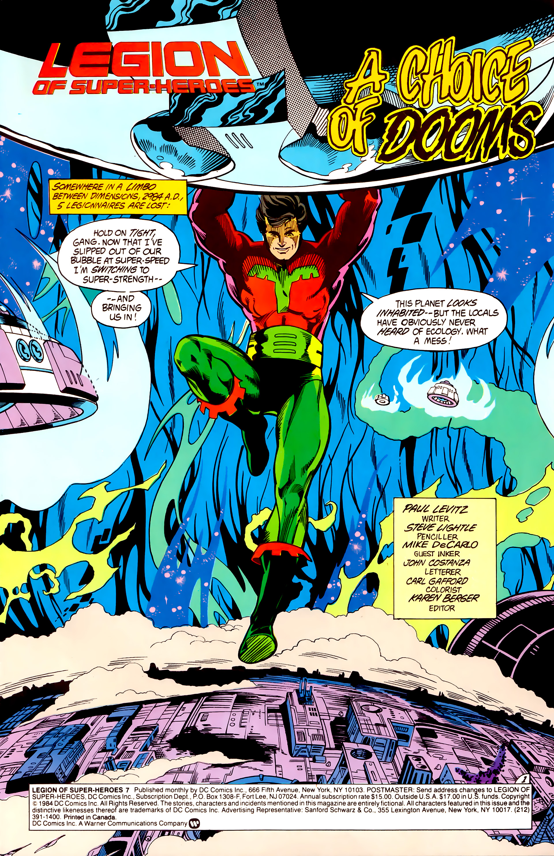 Legion of Super-Heroes (1984) 7 Page 2