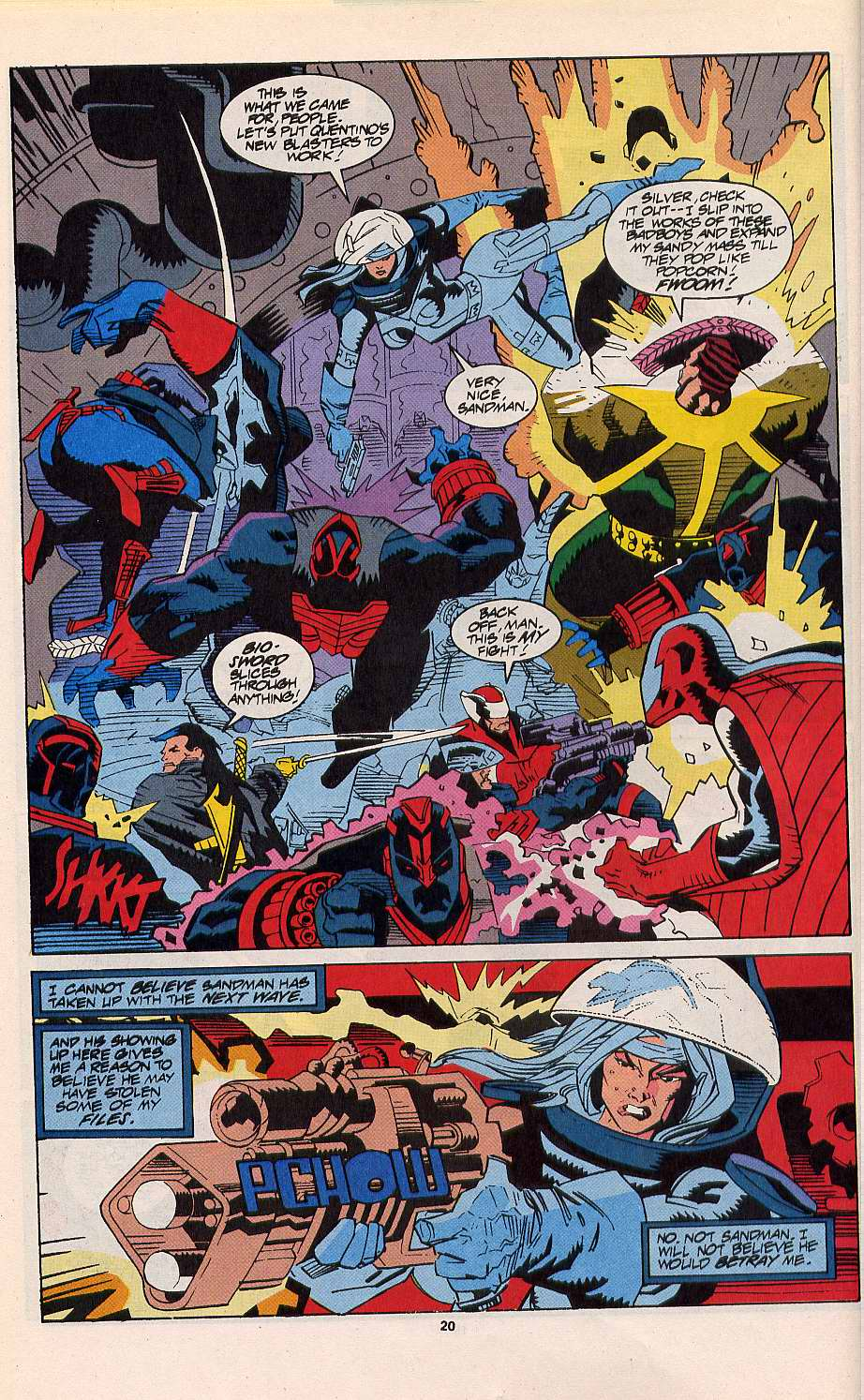 Read online Silver Sable and the Wild Pack comic -  Issue #11 - 17