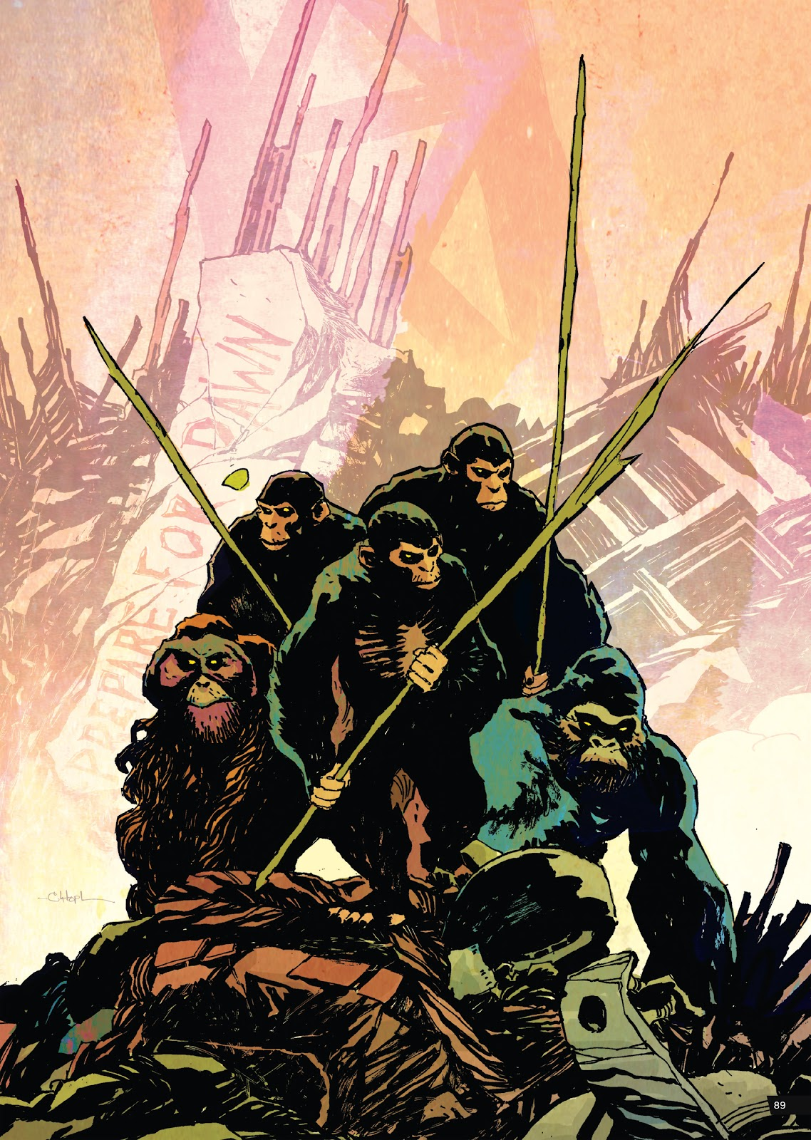 Read online Planet of the Apes Artist Tribute comic -  Issue # TPB - 89