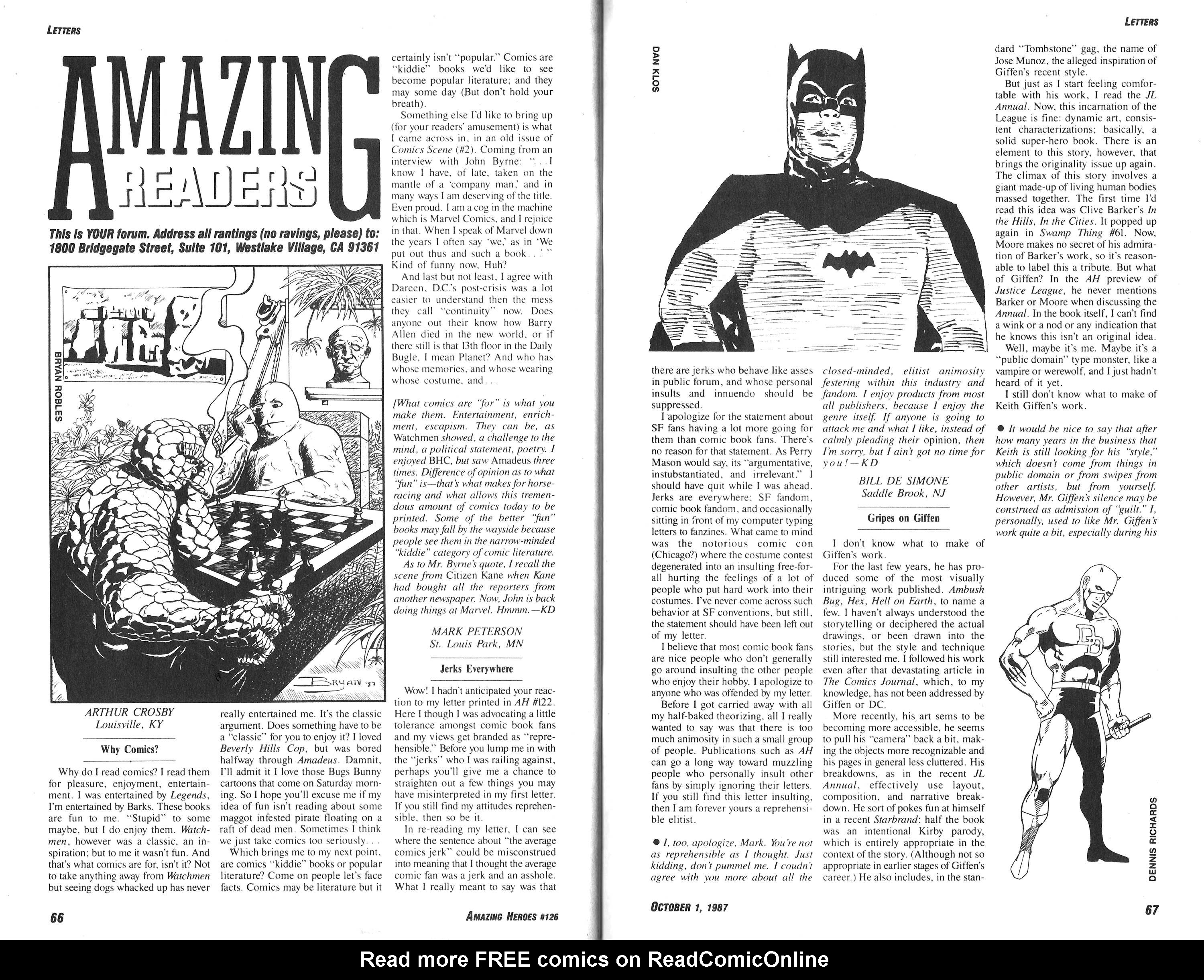 Read online Amazing Heroes comic -  Issue #126 - 34