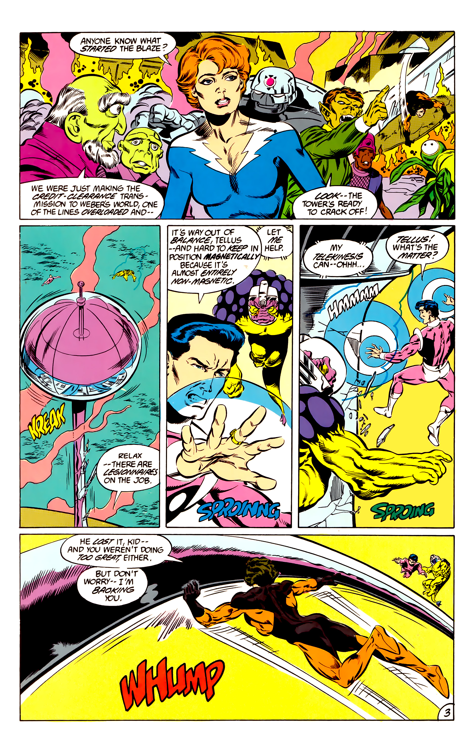 Legion of Super-Heroes (1984) 47 Page 3