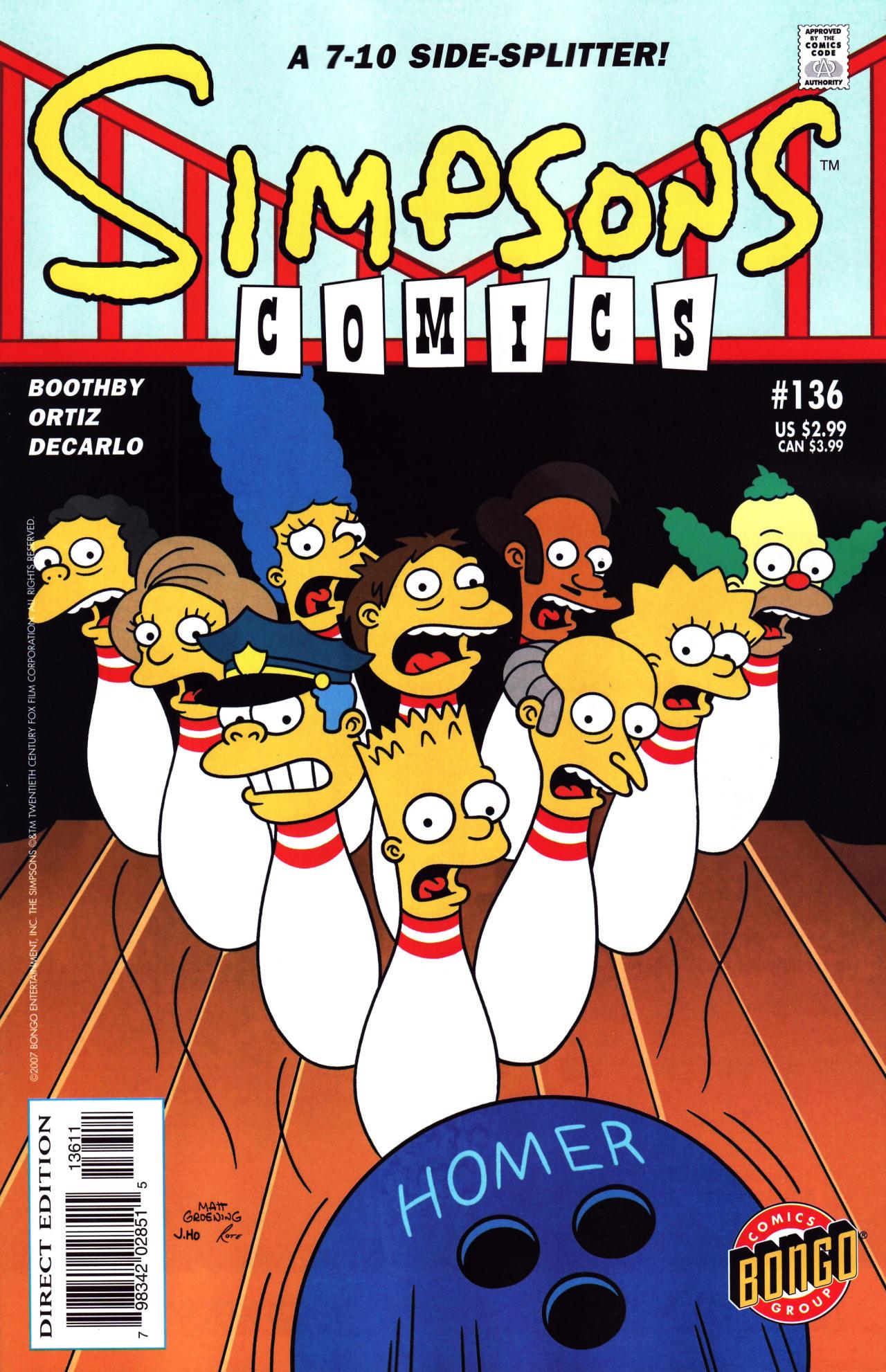Read online Simpsons Comics comic -  Issue #136 - 1