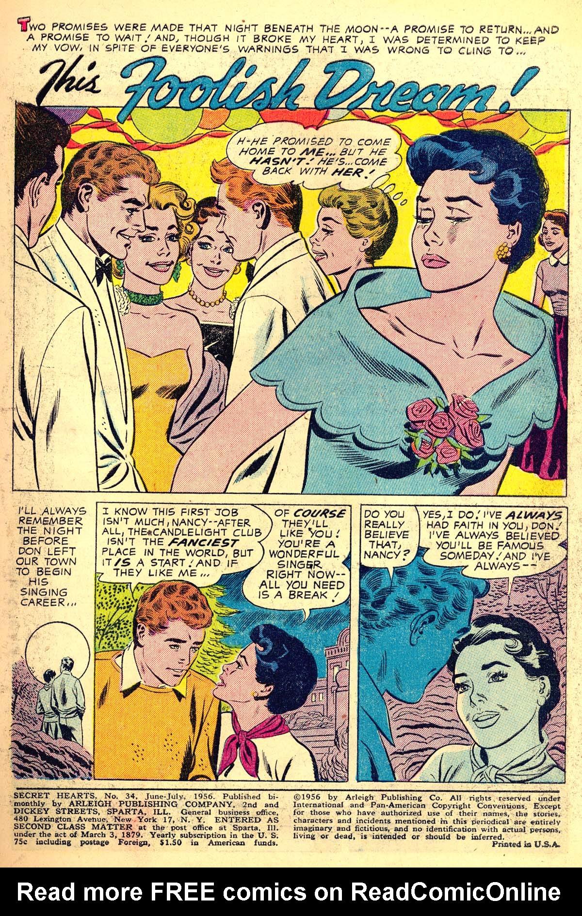 Read online Secret Hearts comic -  Issue #34 - 3