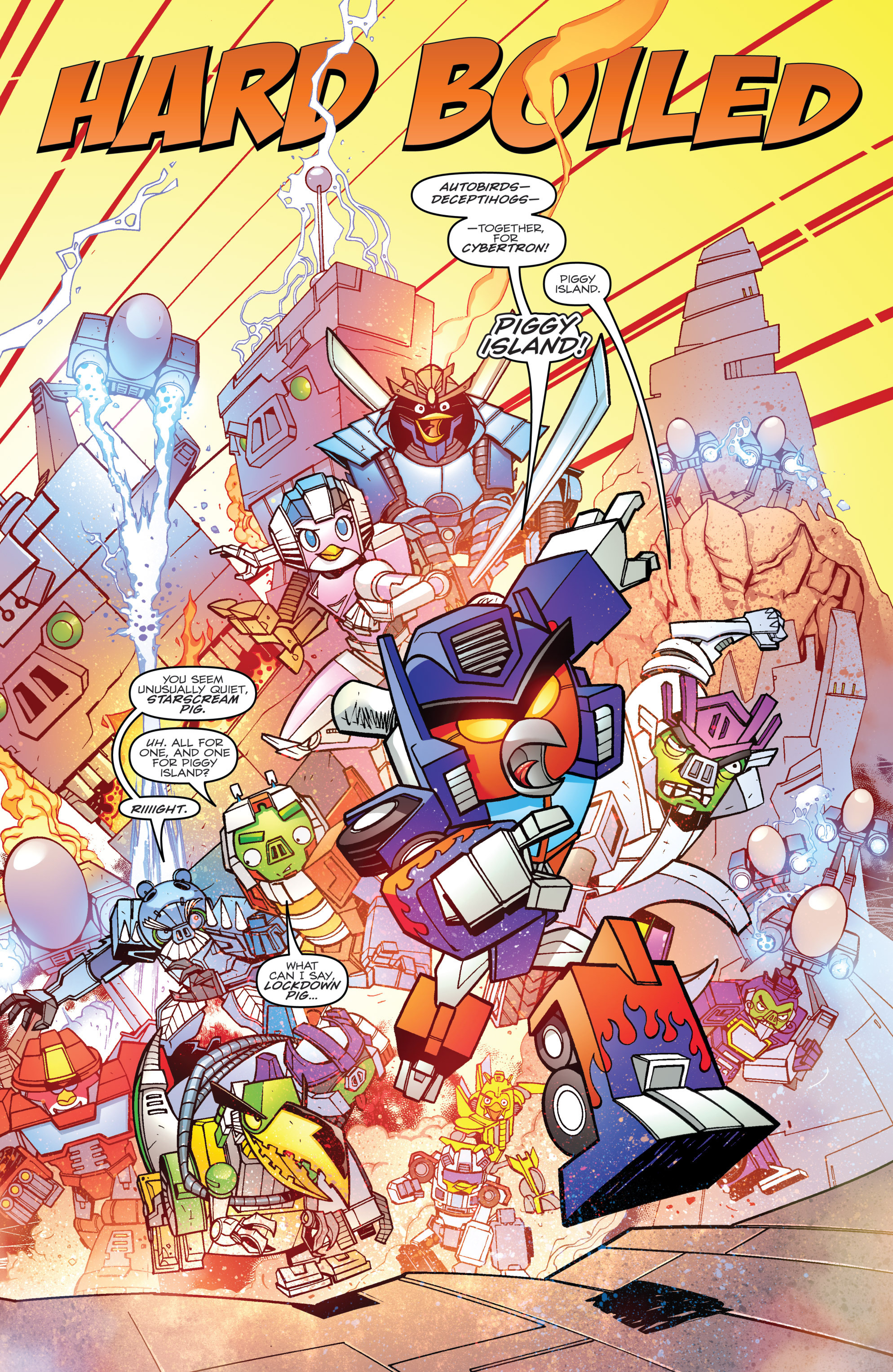 Read online Angry Birds Transformers comic -  Issue #4 - 6