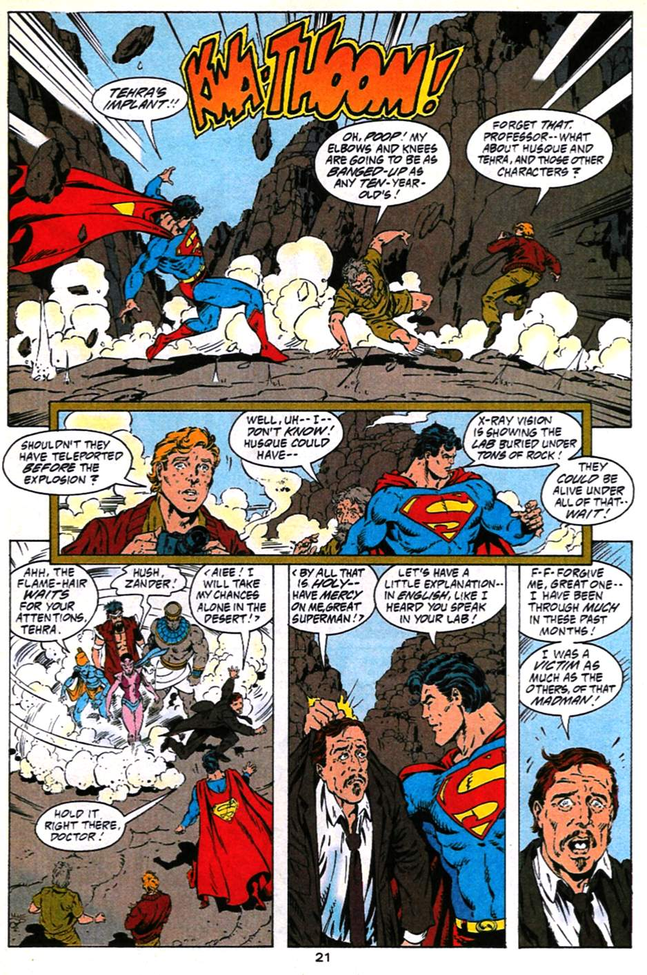 Read online Adventures of Superman (1987) comic -  Issue #490 - 22