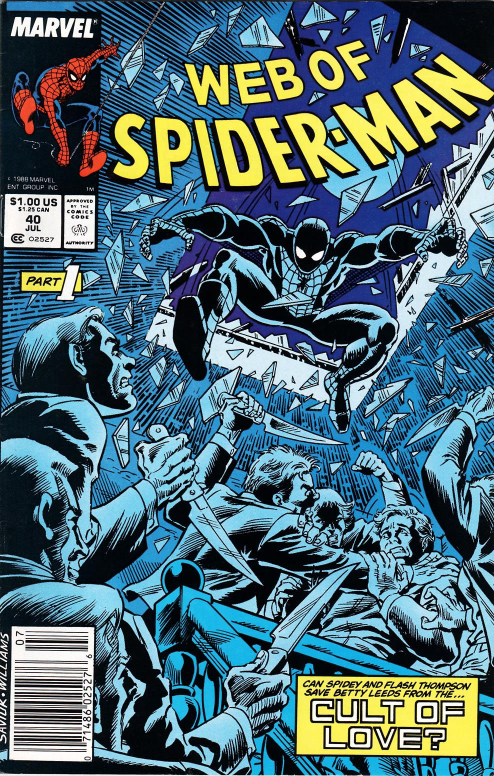 Web of Spider-Man (1985) 40 Page 1