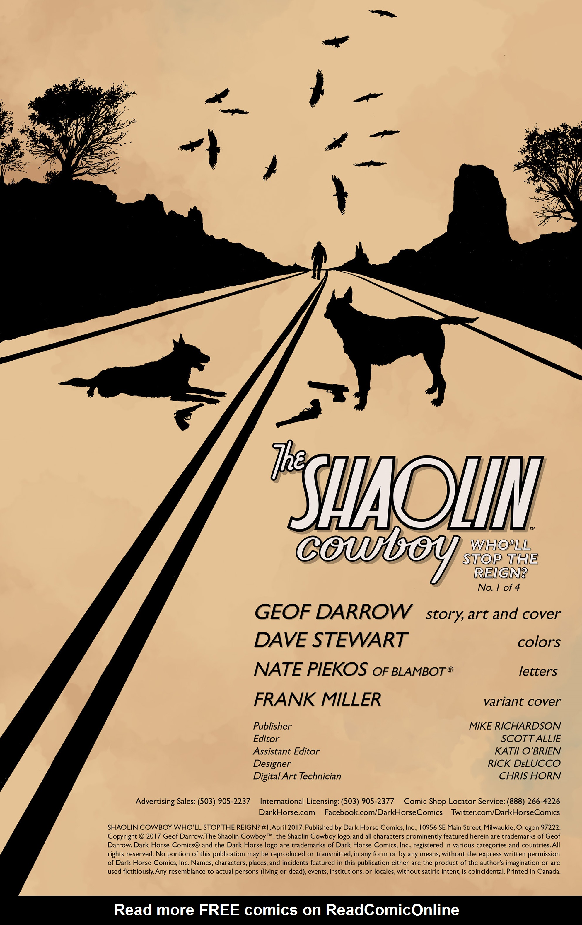The Shaolin Cowboy: Wholl Stop the Reign? 1 Page 2