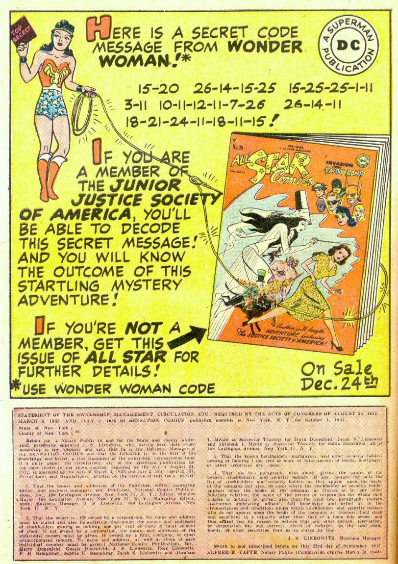 Read online Sensation (Mystery) Comics comic -  Issue #74 - 42