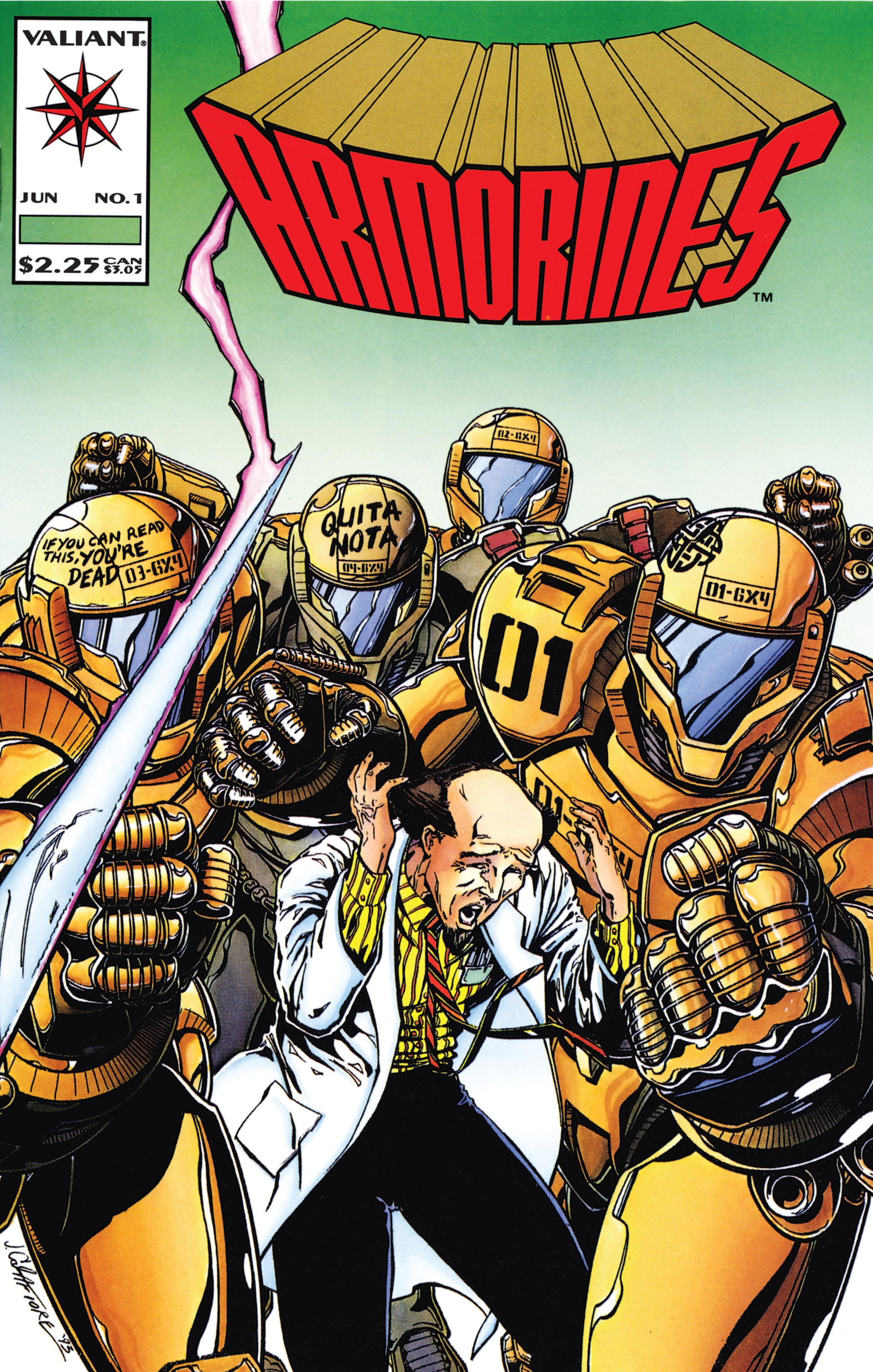 Read online Armorines comic -  Issue #1 - 1