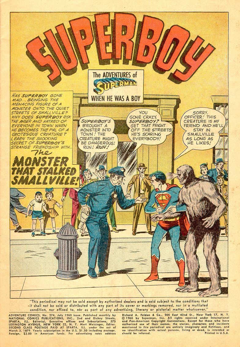Read online Adventure Comics (1938) comic -  Issue #274 - 3