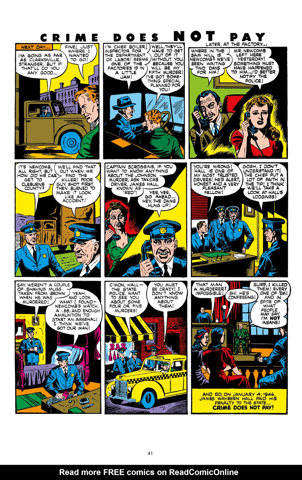 Read online Crime Does Not Pay Archives comic -  Issue # TPB 8 (Part 1) - 43