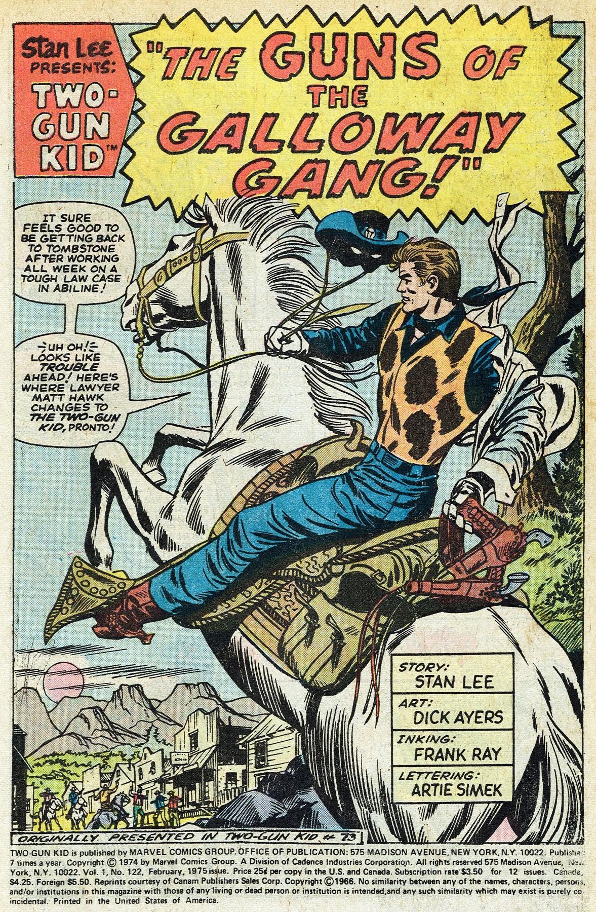 Read online Two-Gun Kid comic -  Issue #122 - 3