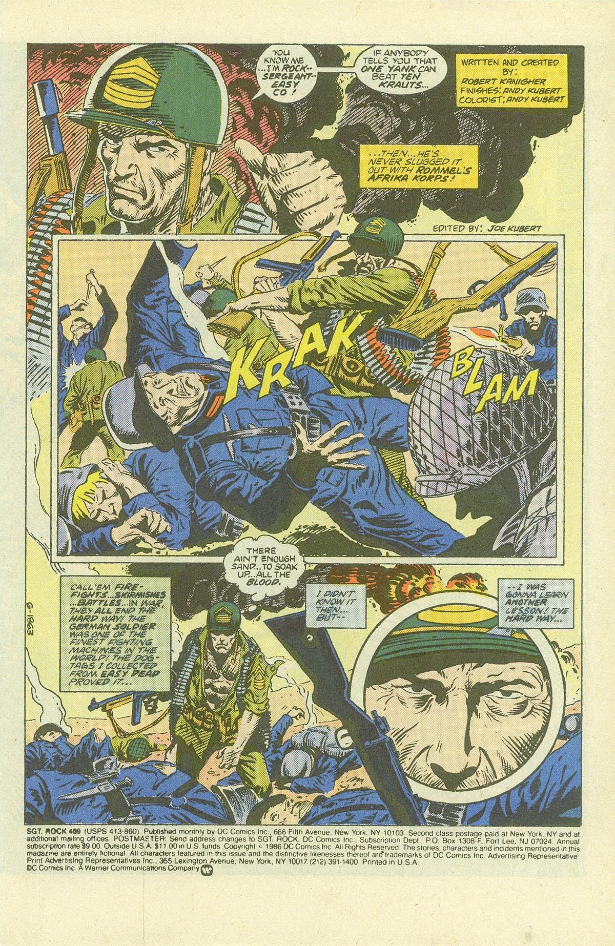 Read online Sgt. Rock comic -  Issue #409 - 3