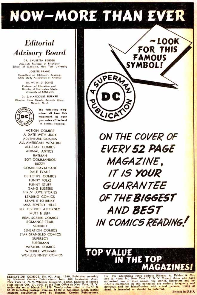 Read online Sensation (Mystery) Comics comic -  Issue #92 - 2