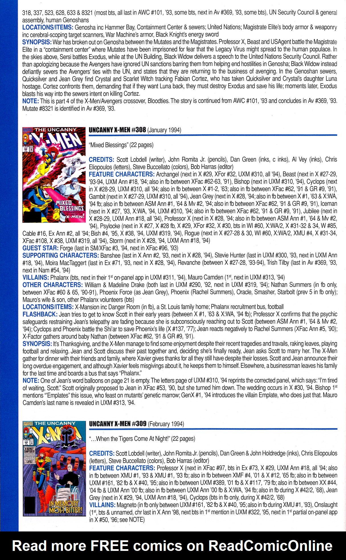 Read online Official Index to the Marvel Universe comic -  Issue #8 - 48