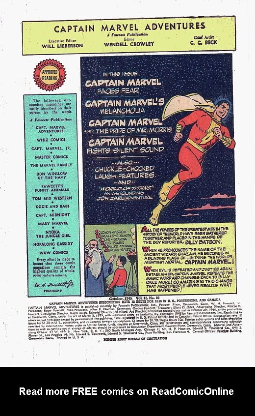 Captain Marvel Adventures issue 89 - Page 2