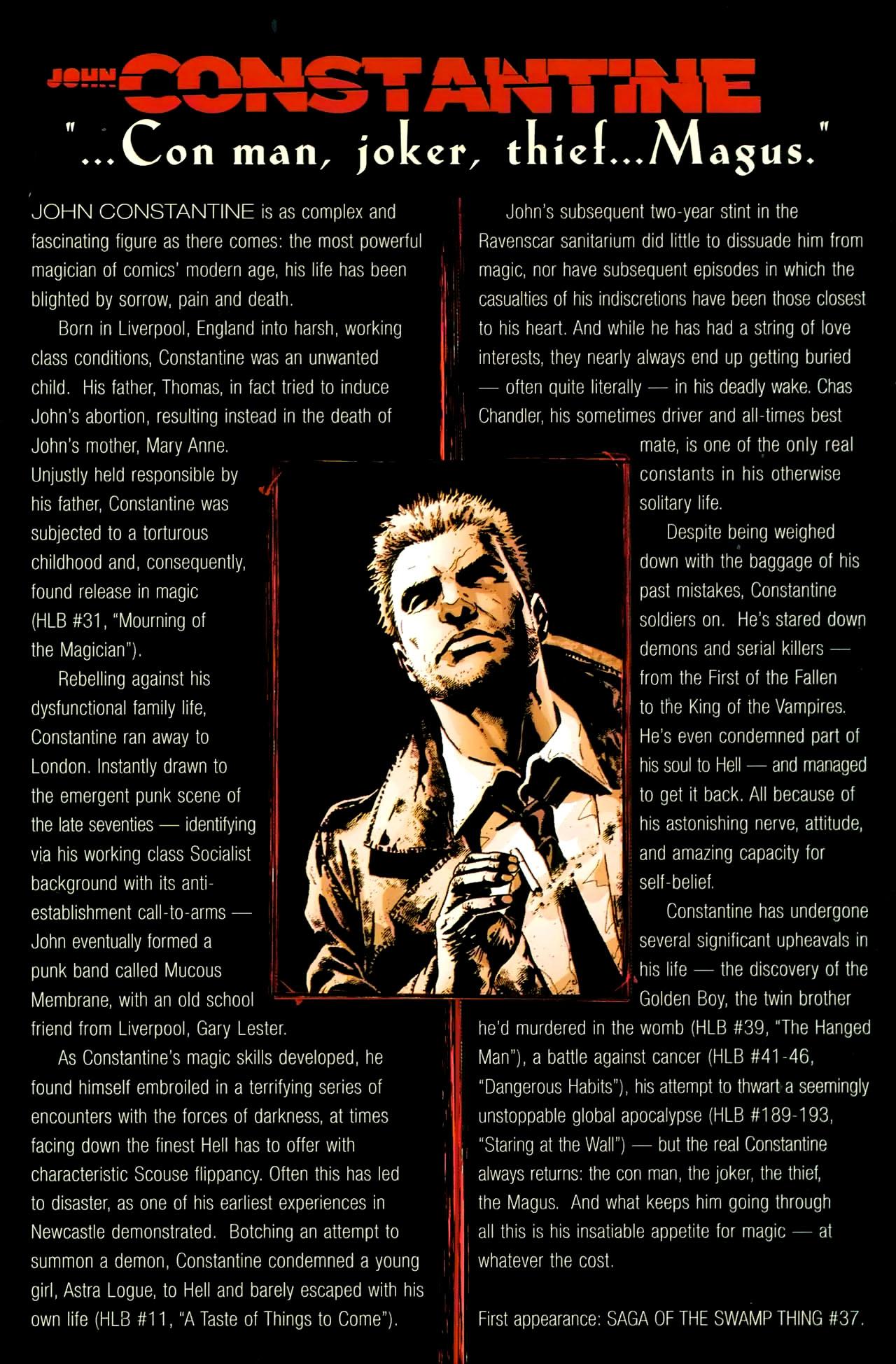 Read online John Constantine Hellblazer: All His Engines comic -  Issue # Full - 120