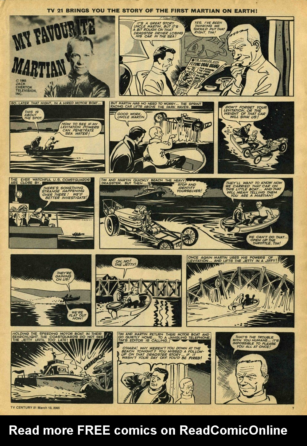 Read online TV Century 21 (TV 21) comic -  Issue #8 - 7