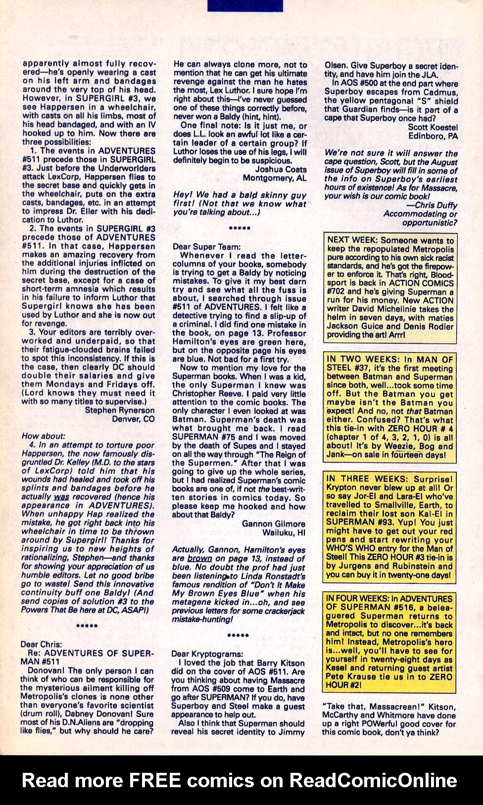 Read online Adventures of Superman (1987) comic -  Issue #515 - 26
